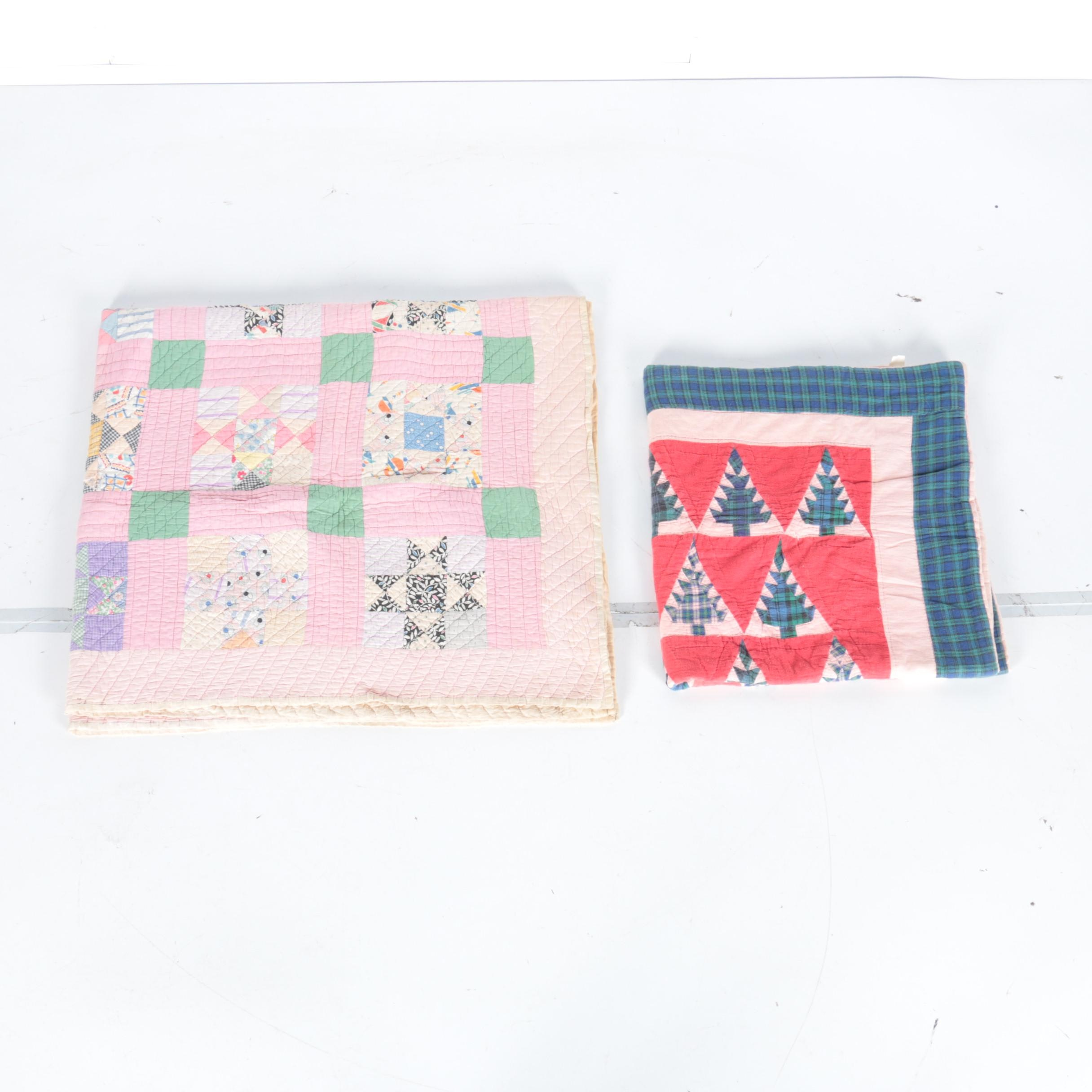 Pair of Vintage Patchwork Quilts