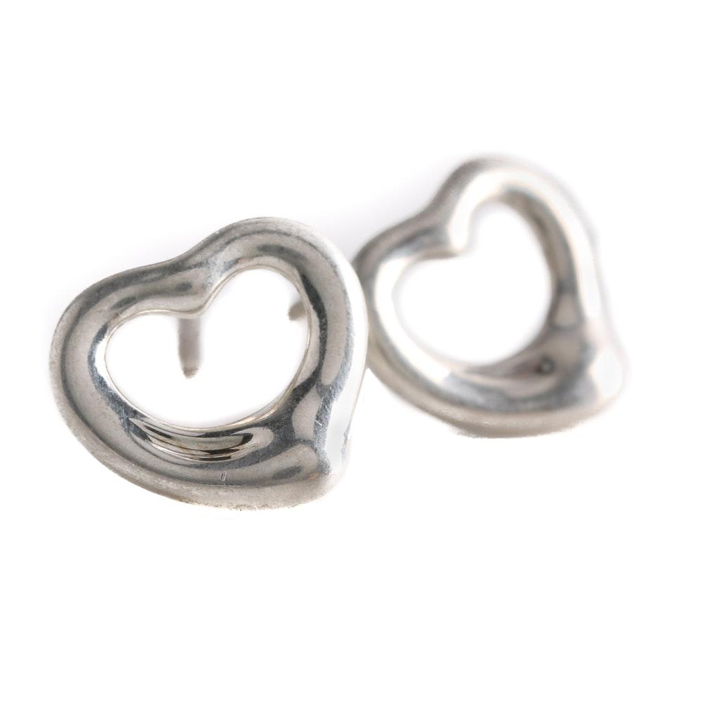 Elsa Peretti for Tiffany & Co. Sterling Silver Heart Earrings
