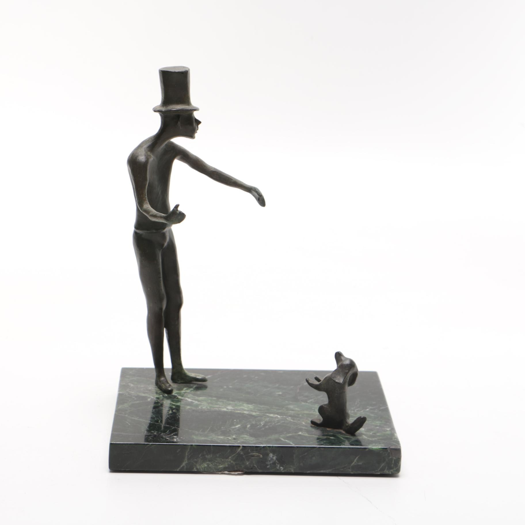 Loet Vanderveen Limited Edition Sculpture of Man and Dog