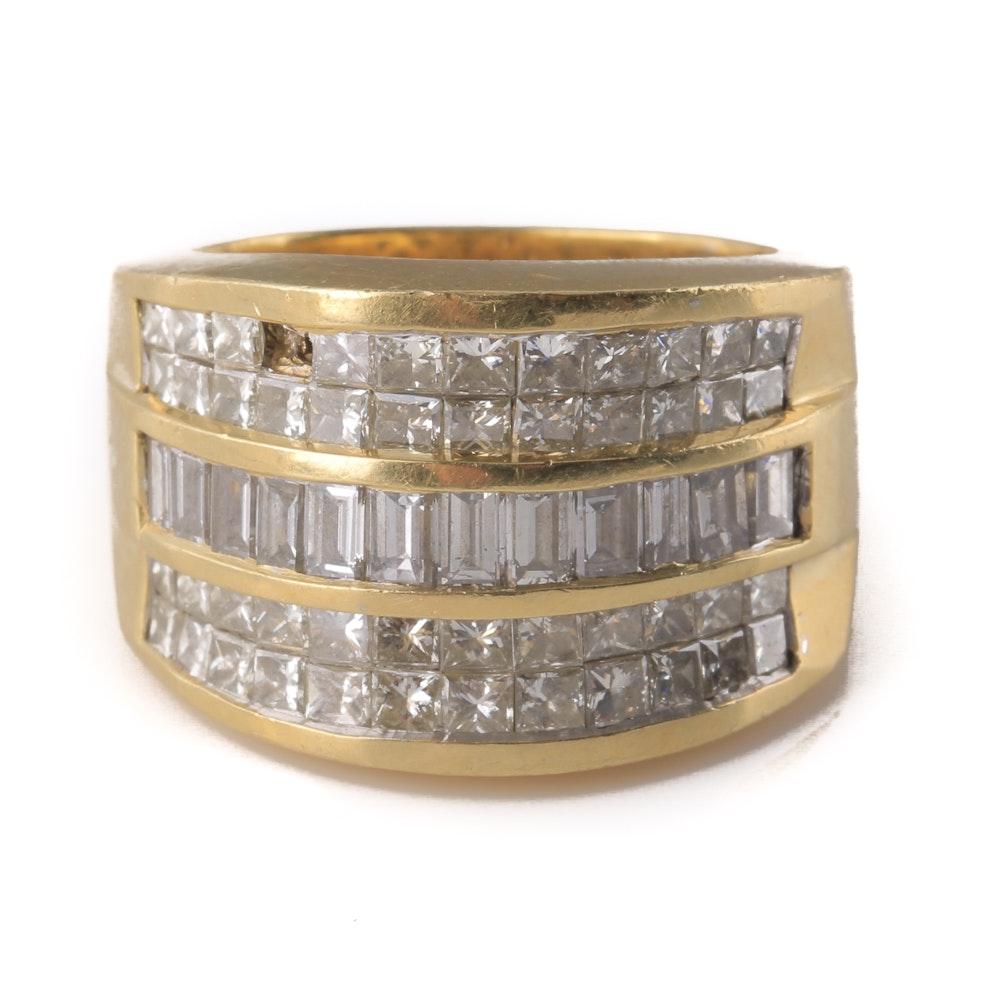 18K Yellow Gold Embedded 2.90 CTW Diamond Ring