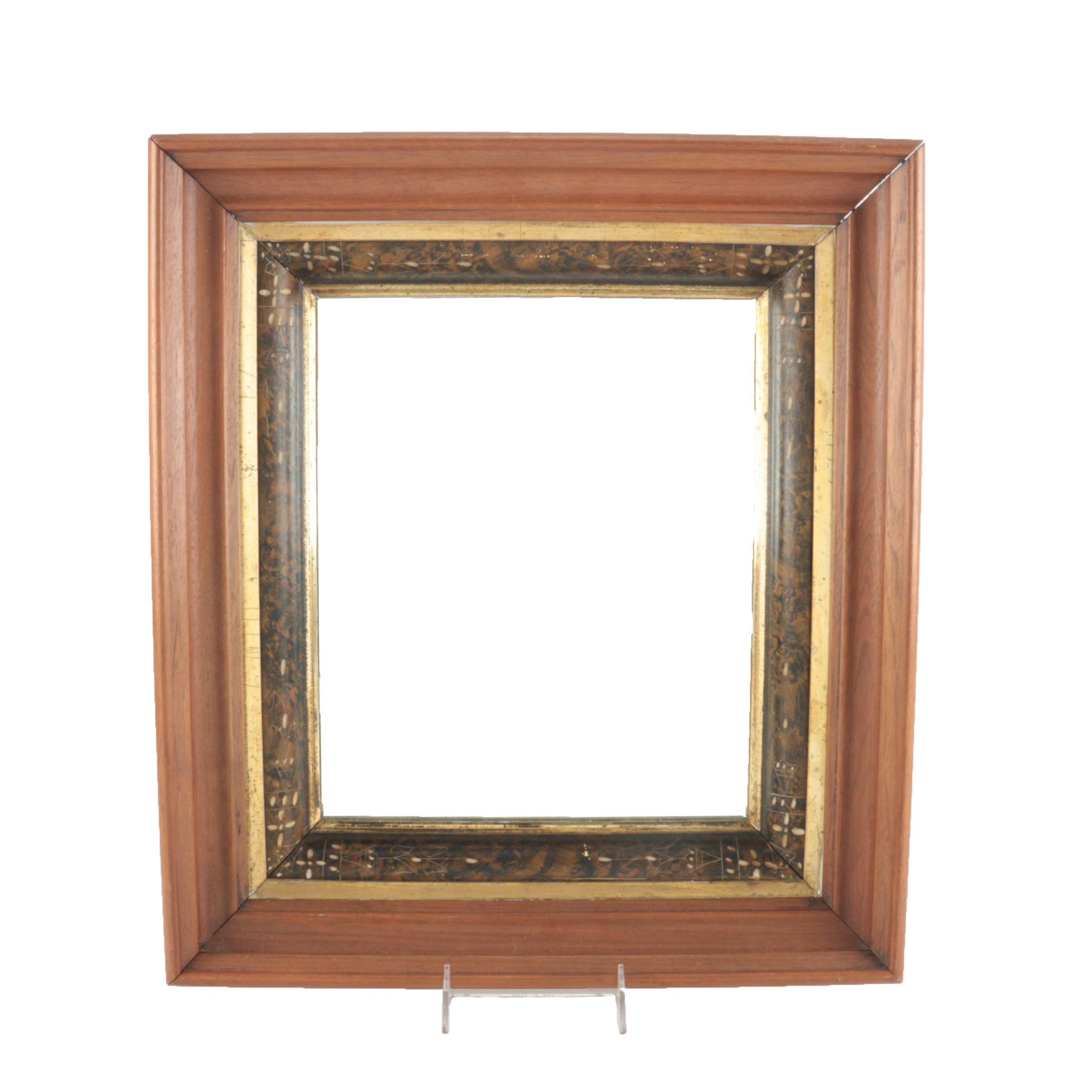 Late 19th Century Victorian Eastlake Frame With Mirror