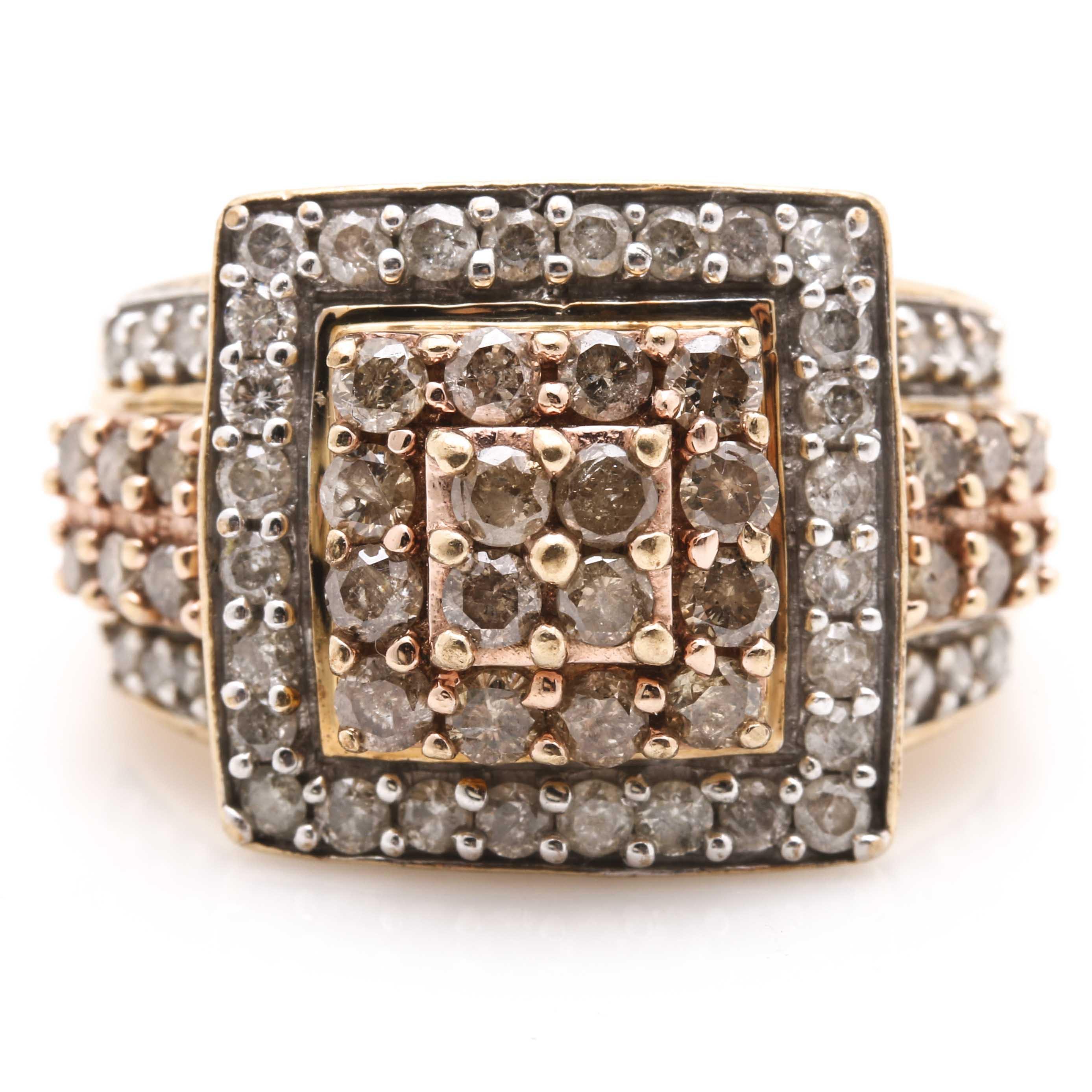 10K Yellow Gold 1.46 CTW Diamond Ring