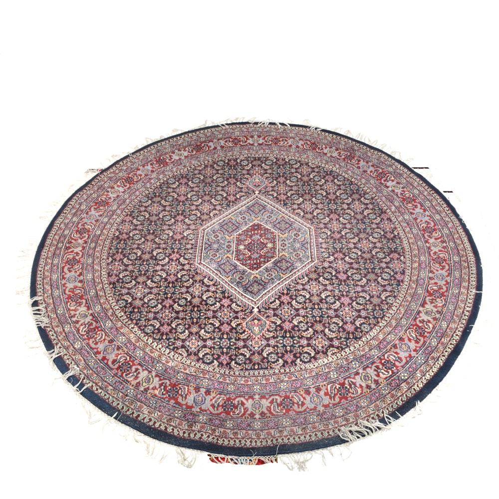 Hand Knotted Indo-Persian Bidjar Round Area Rug