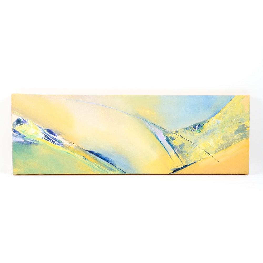 """Kirk Hughey Oil on Canvas """"Approach"""""""