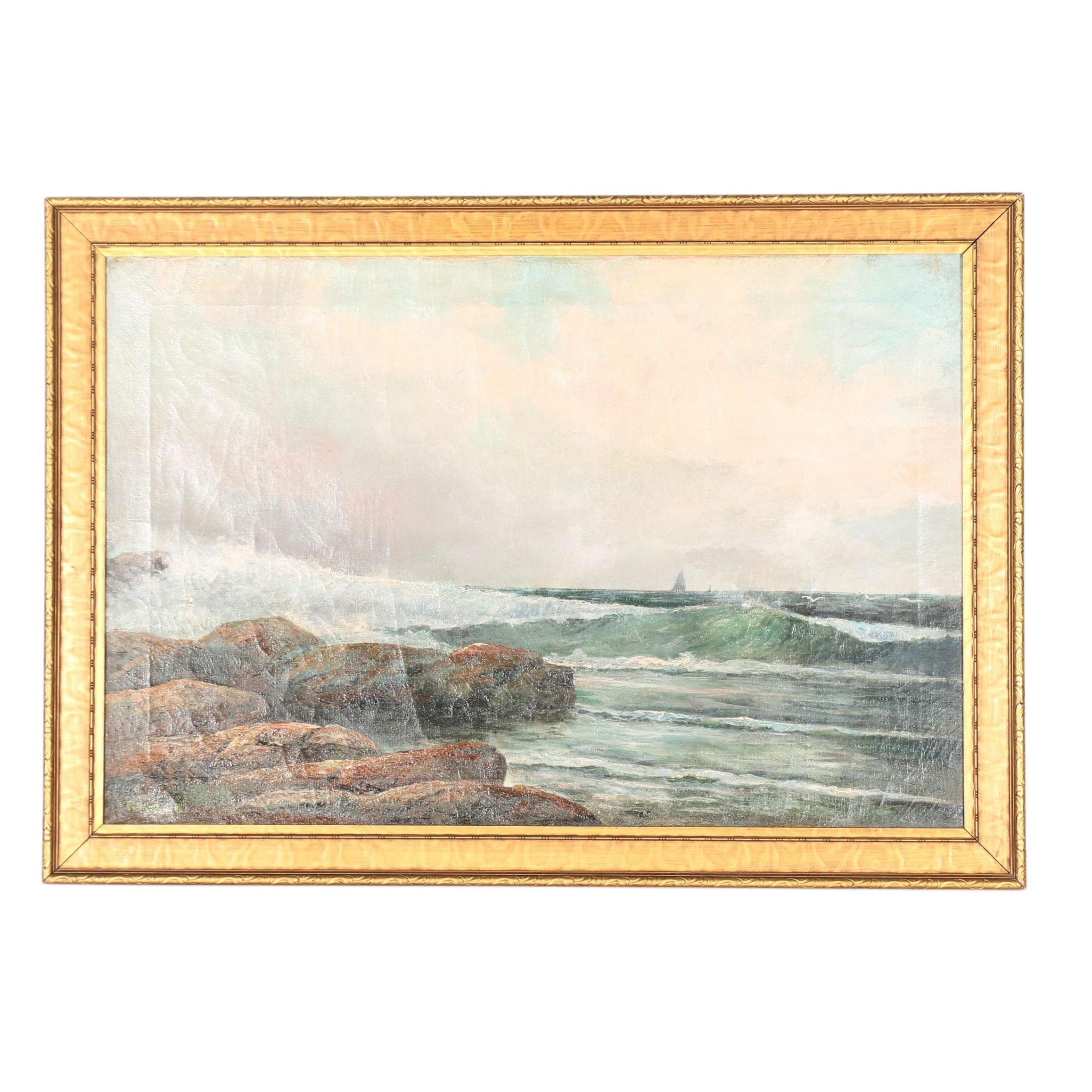 Oil Painting on Canvas of Seascape