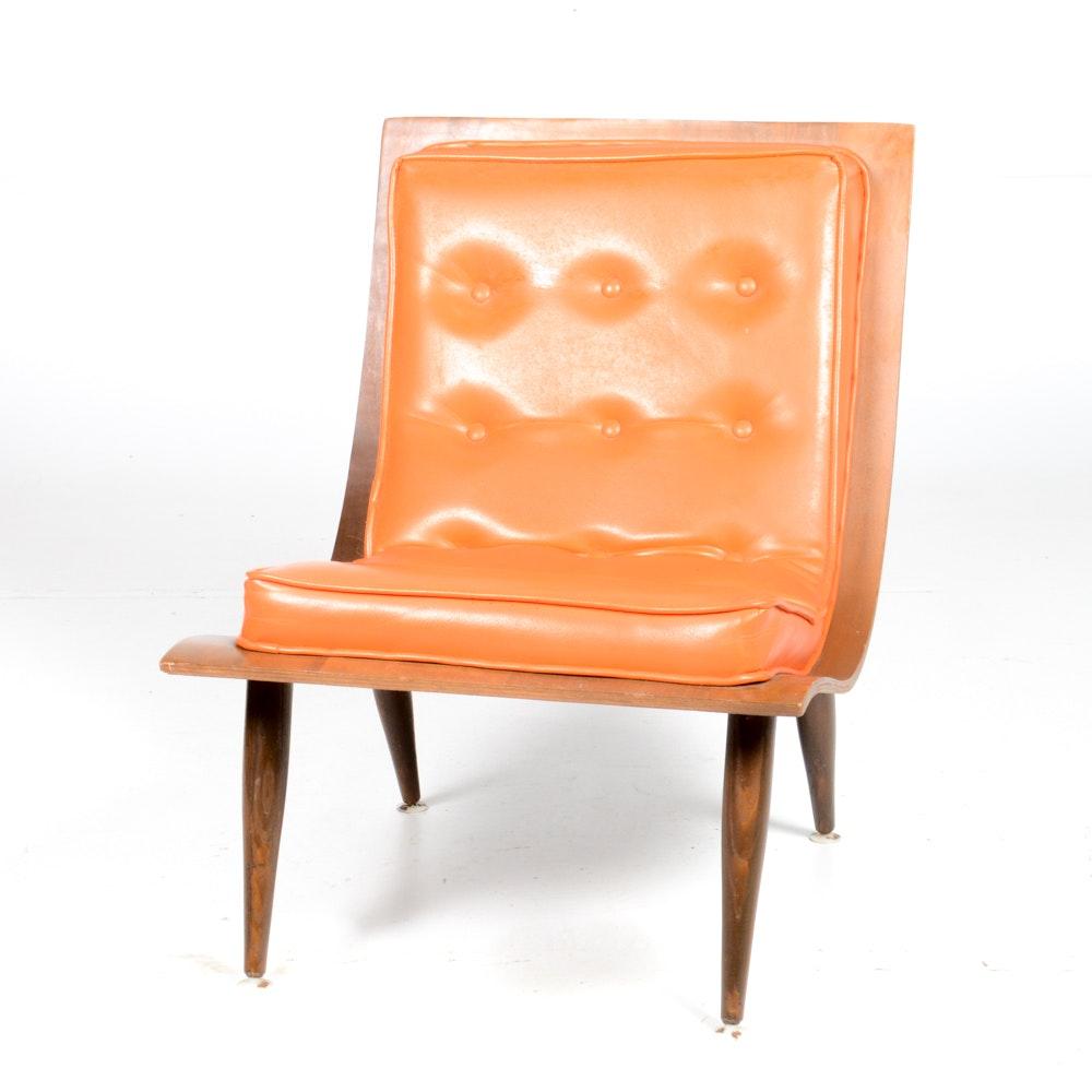 Mid Century Modern Bent Wood Lounge Chair ...