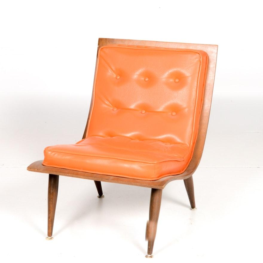 mid century modern bent wood chair ebth
