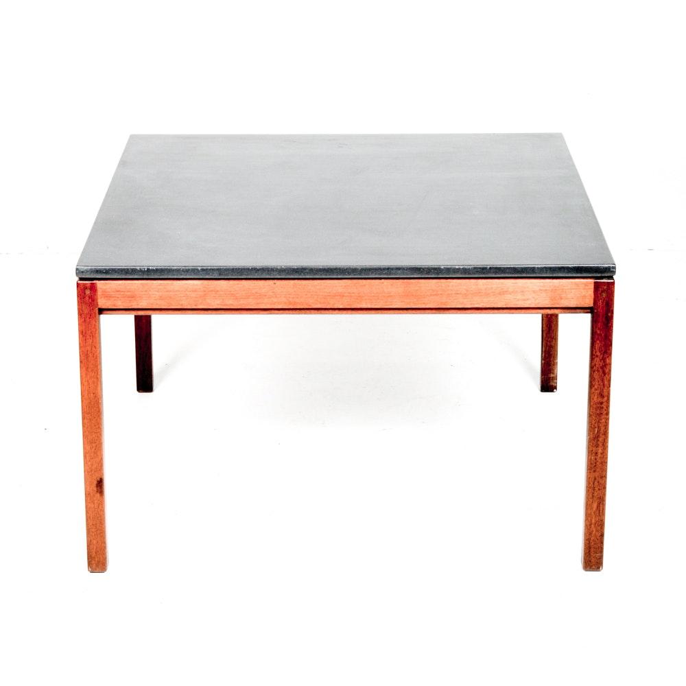 Danish Modern Slate Topped Table by Jens Risom
