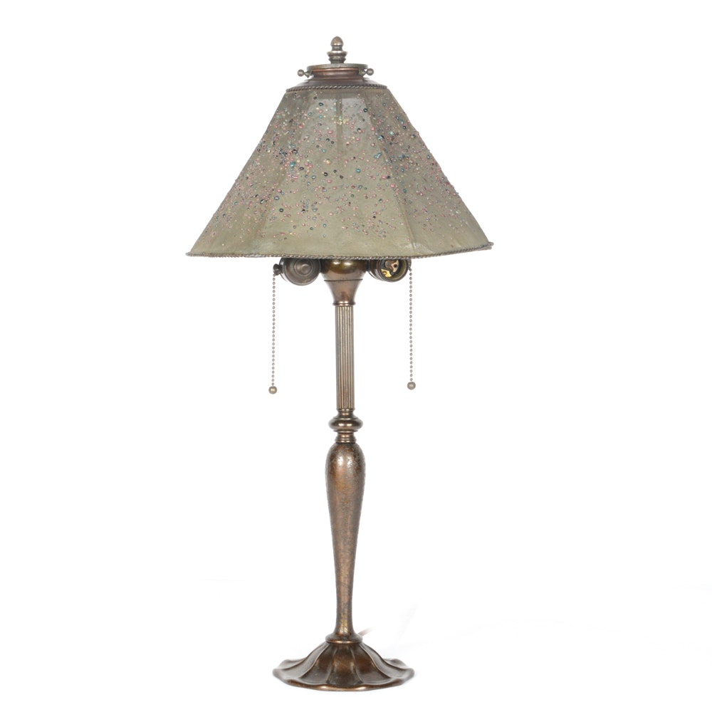 1920s Louis C. Tiffany Furnaces, Inc. Table Lamp