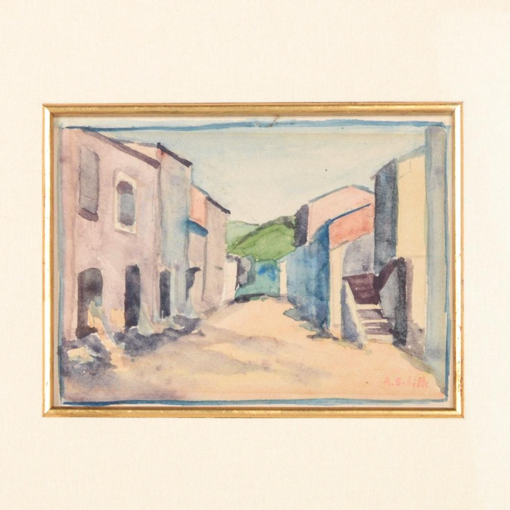 Alice Schille Original Watercolor Painting