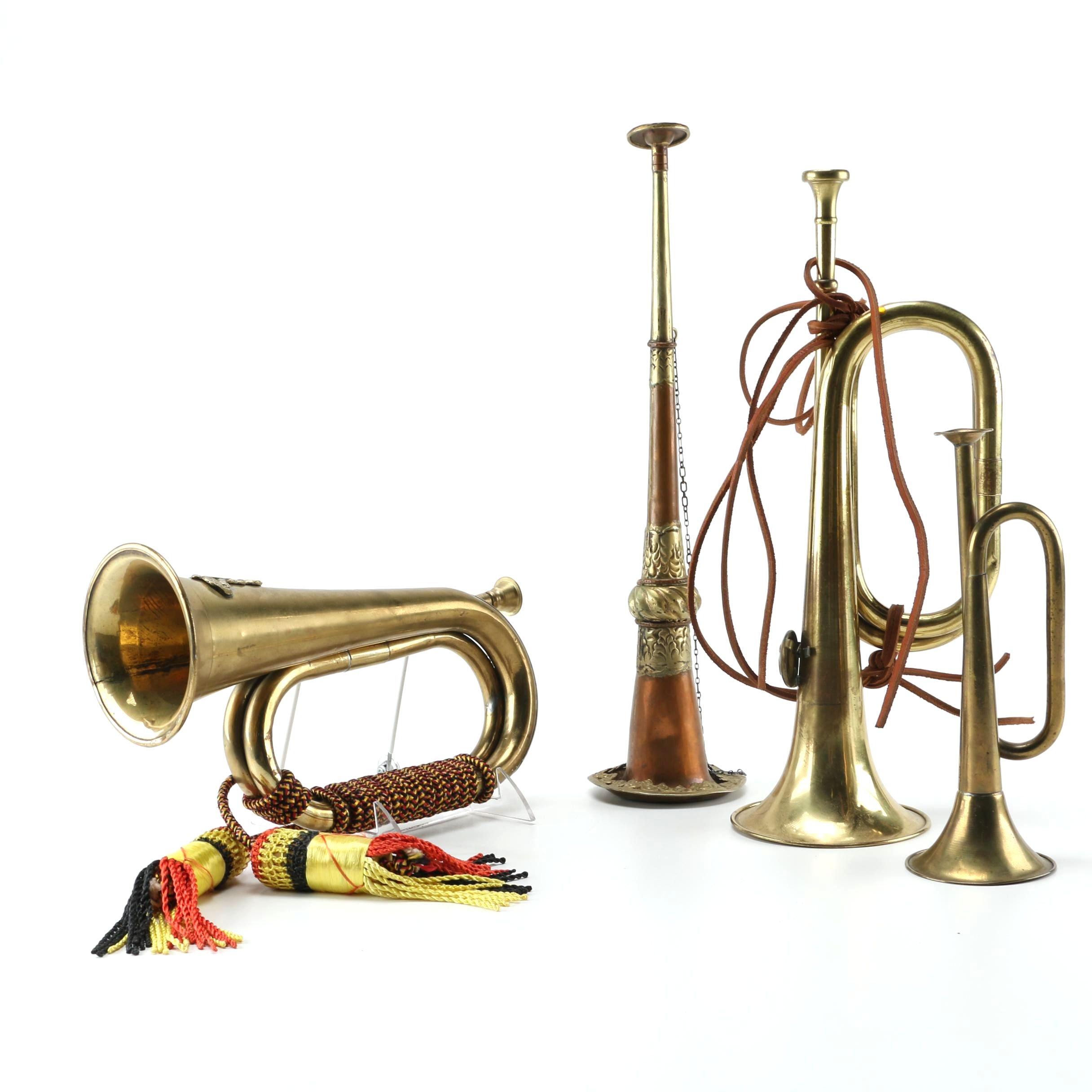 Vintage Bugles and Indonesian Ekkalam Horn