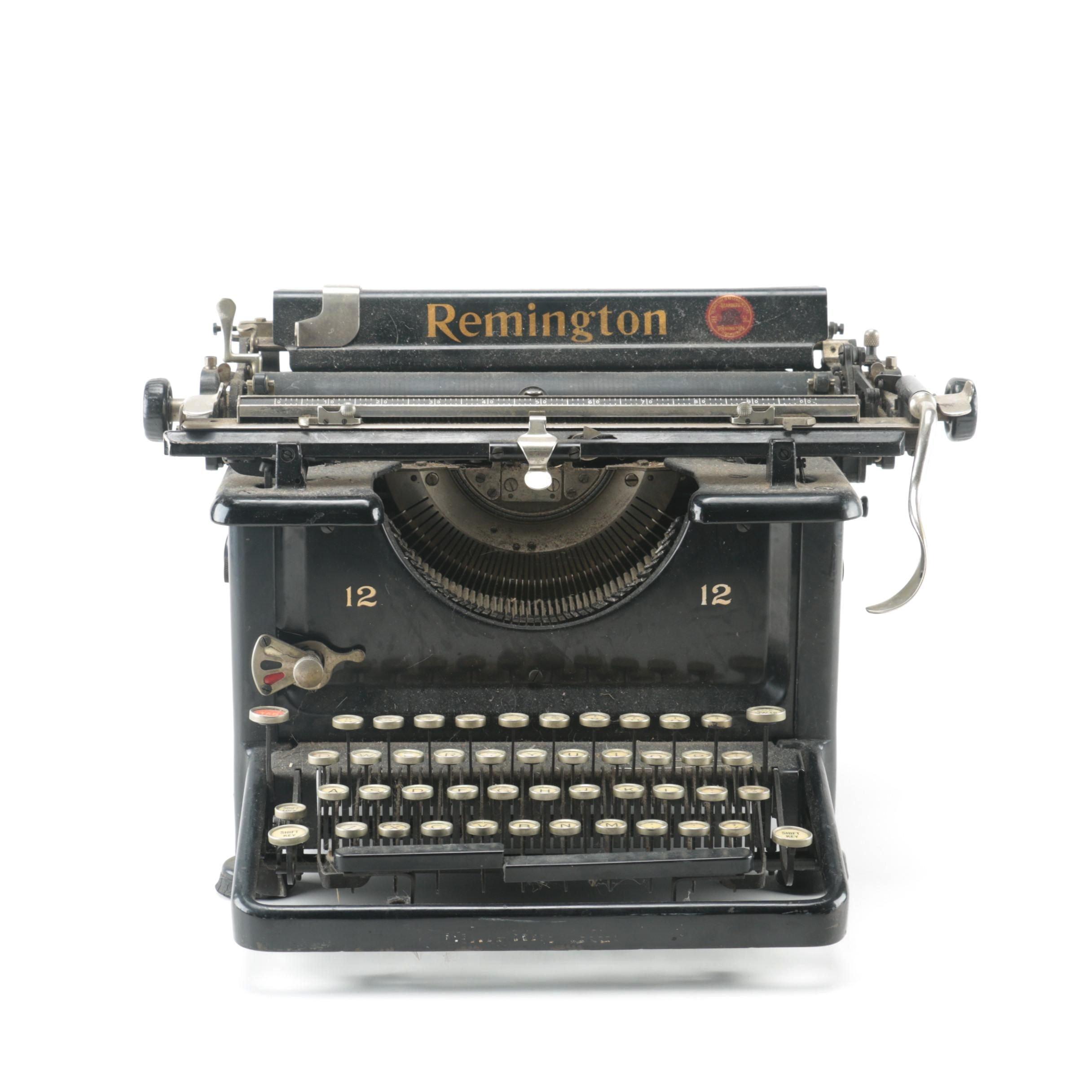 Black And Silver Remington Typewriter