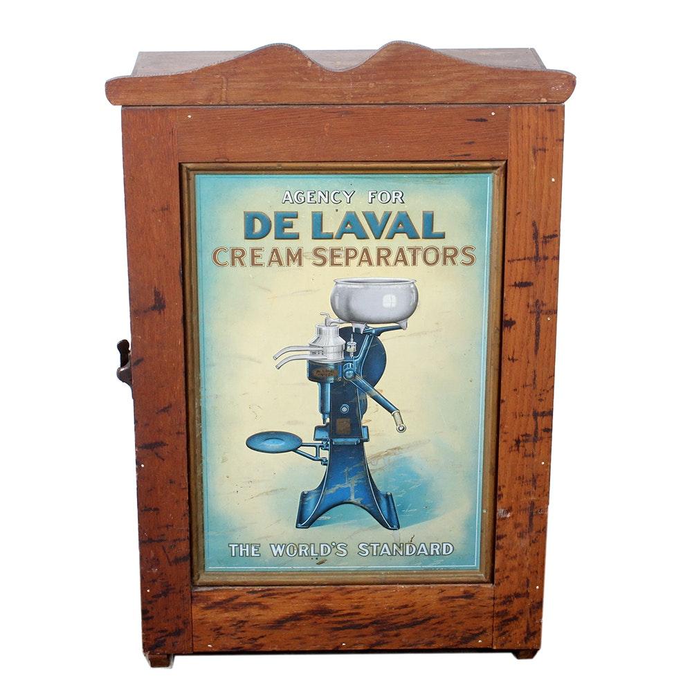 Antique De Laval Cream Separators Advertising Cabinet