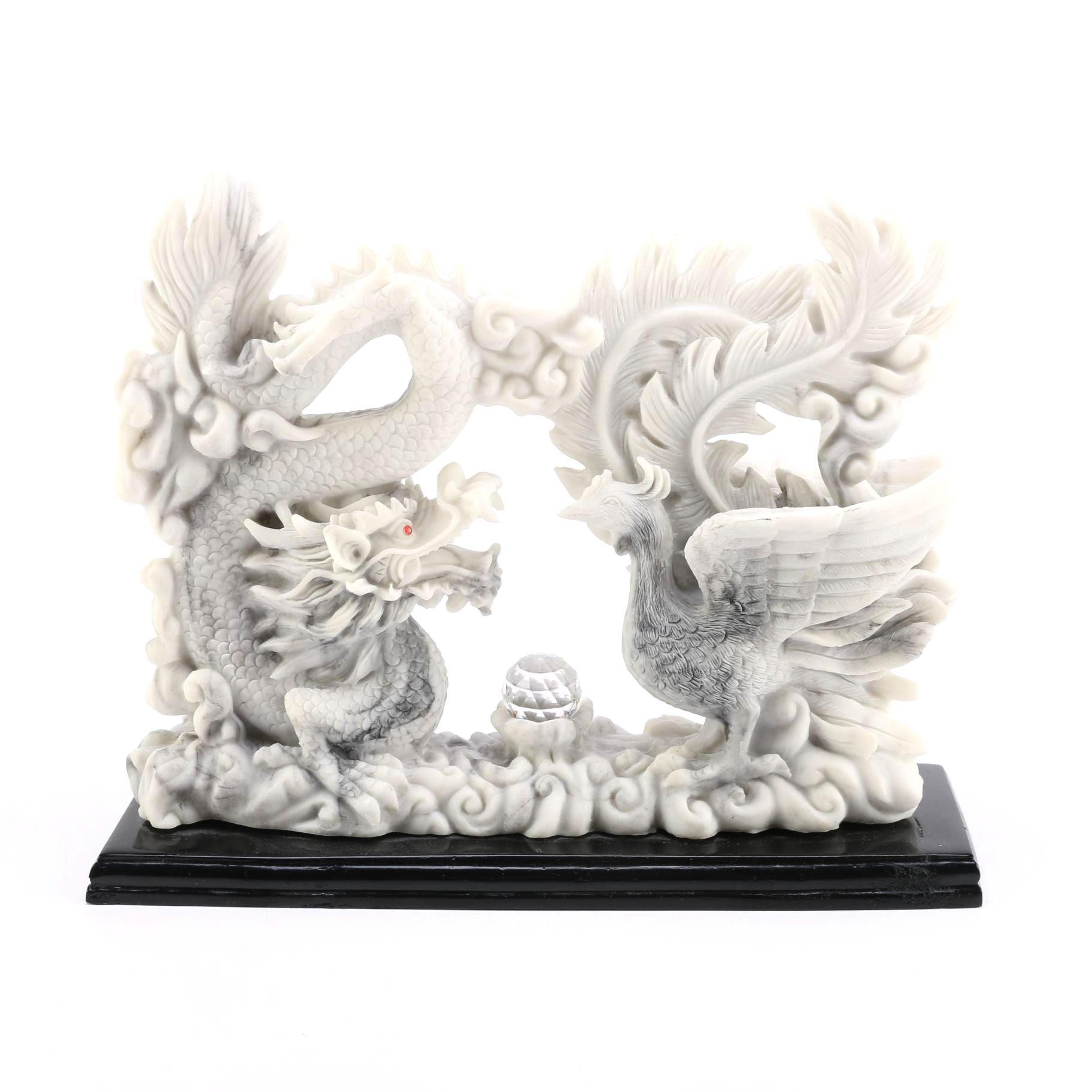 Dragon and Phoenix Sculpture