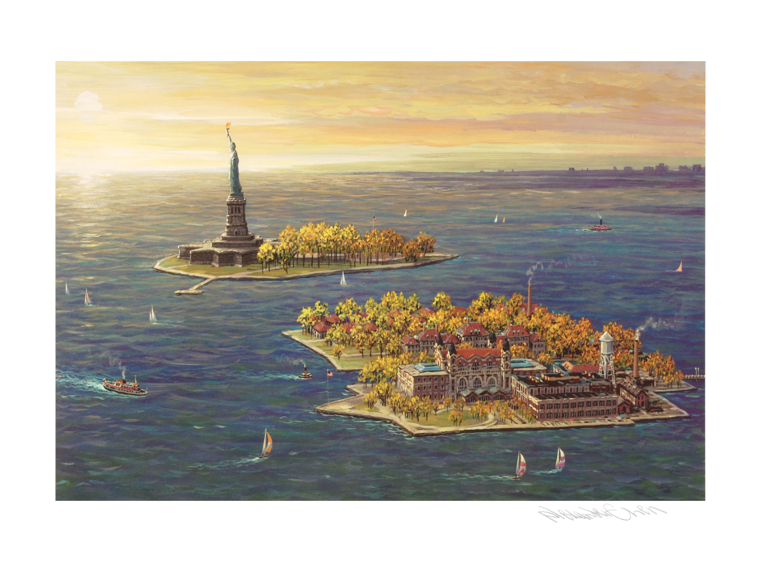 """Ellis Island - Fall"" Limited Edition by Alexander Chen"