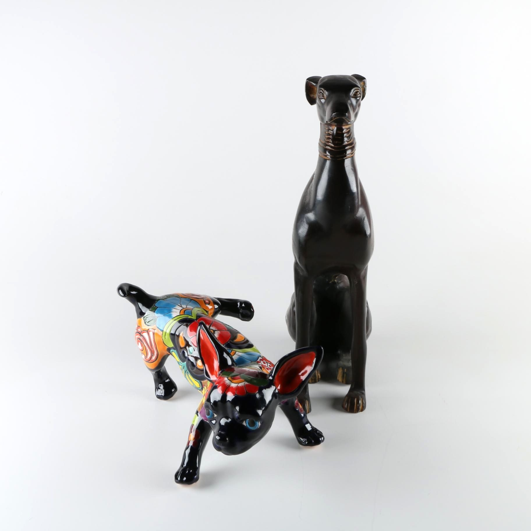 Pair of Dog Statues
