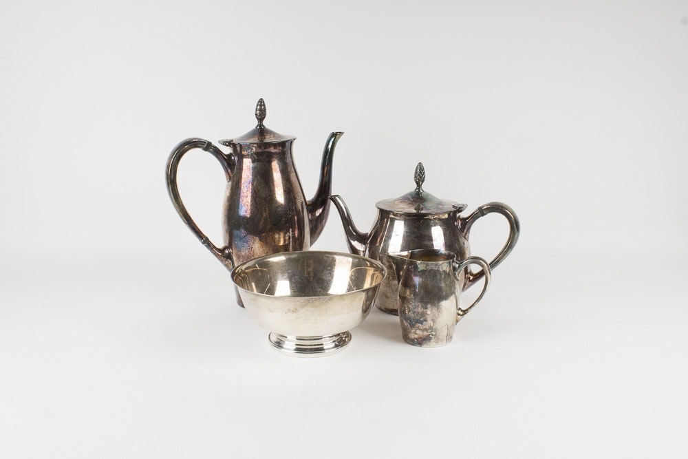 Gorham Silver Plate Coffee and Tea Service