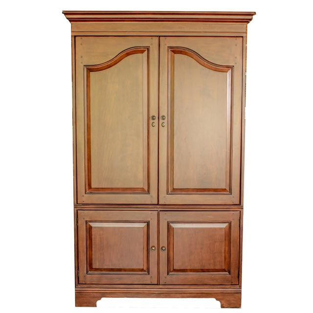 Heckman Large Cherry Finish Armoire