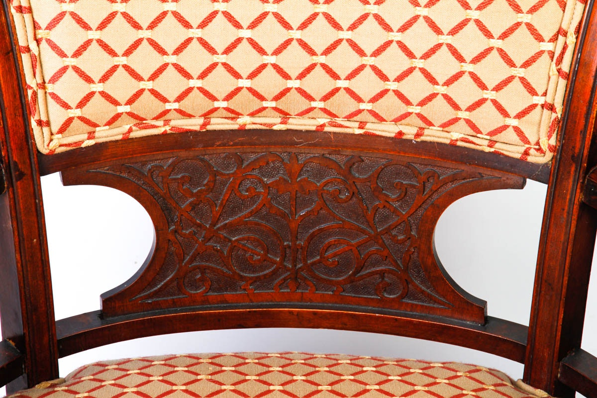 Vintage art deco style upholstered chairs ebth for Deco style retro