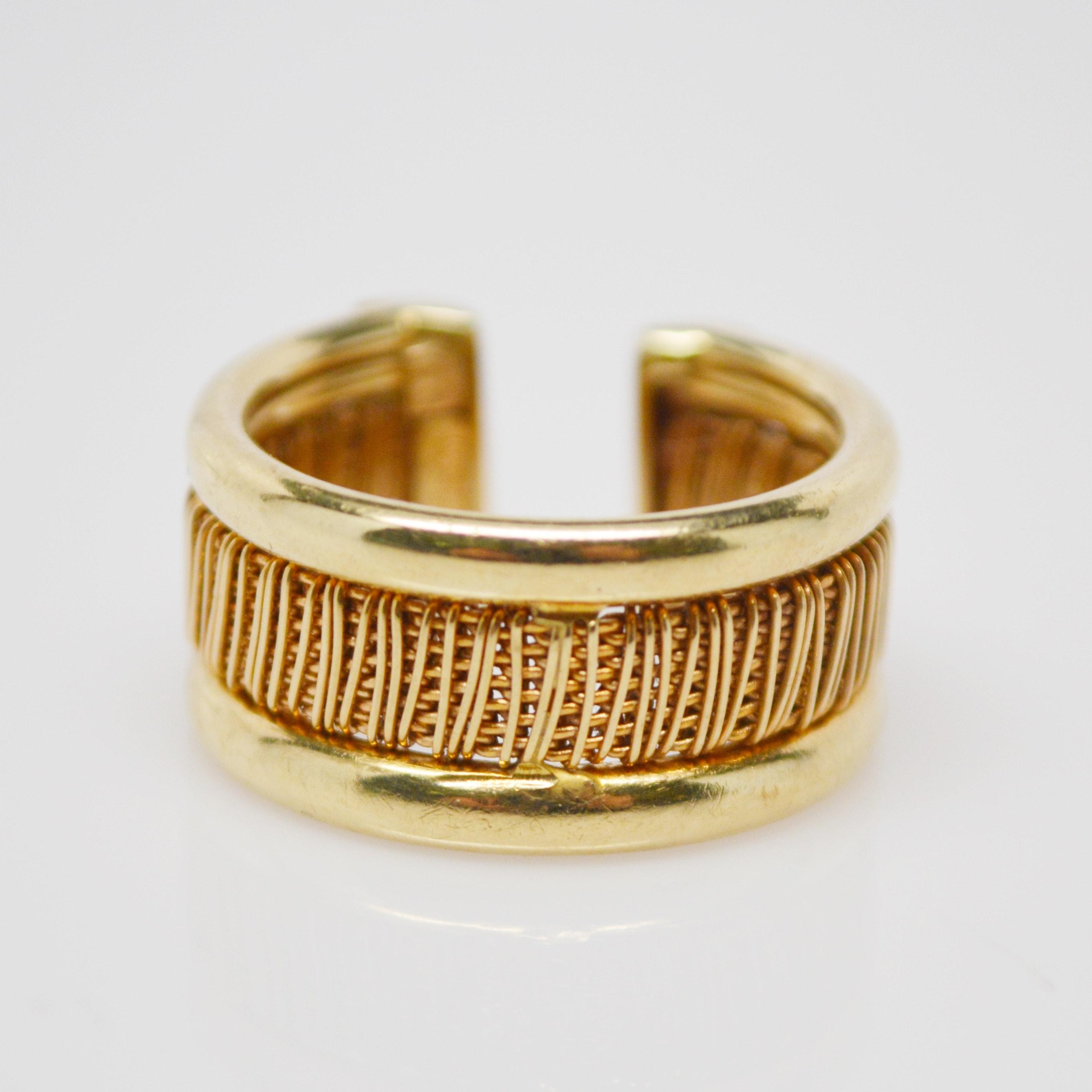 Italian 14K Yellow Gold Ring
