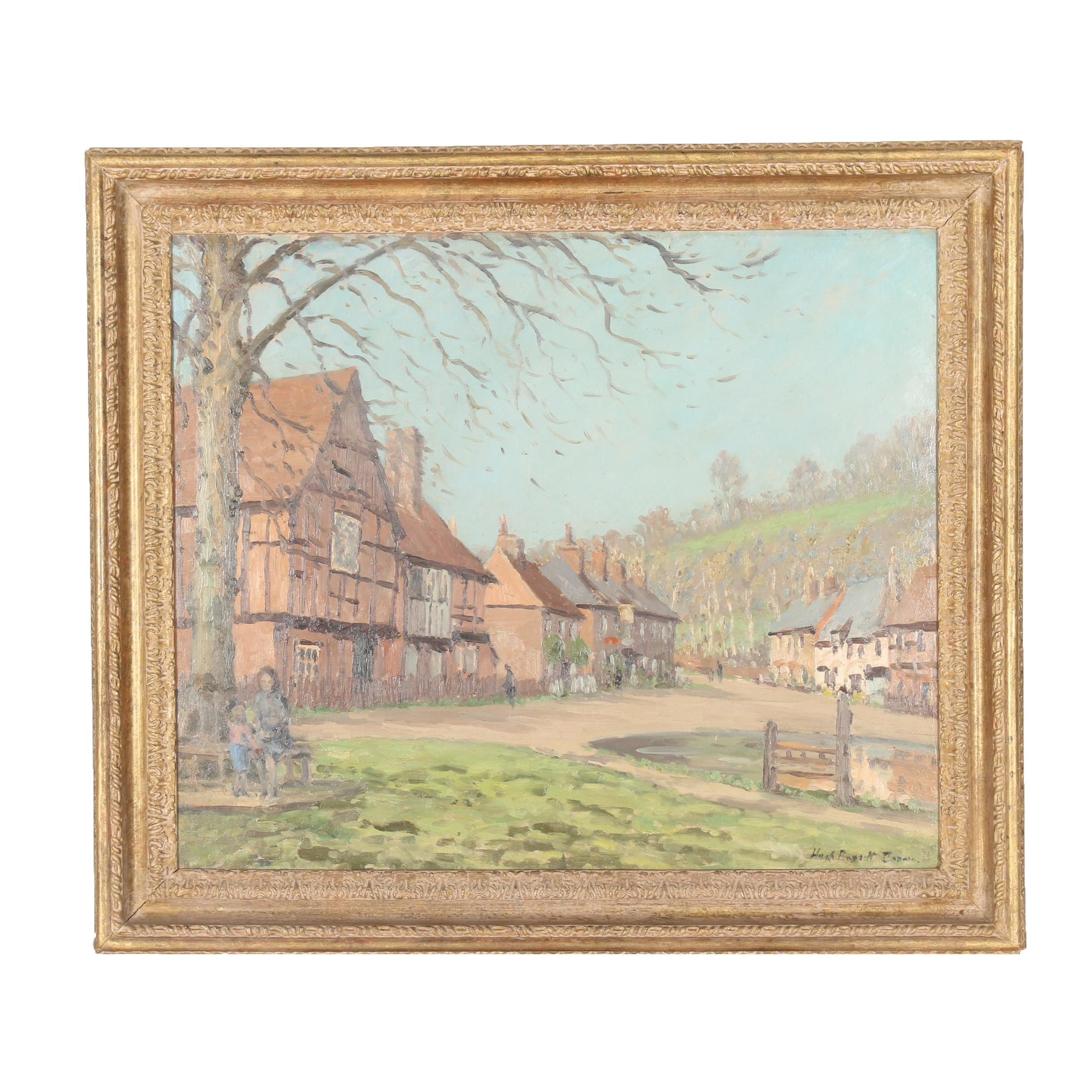 "Hugh Boycott-Brown Oil Painting of ""Spring Afternoon"""