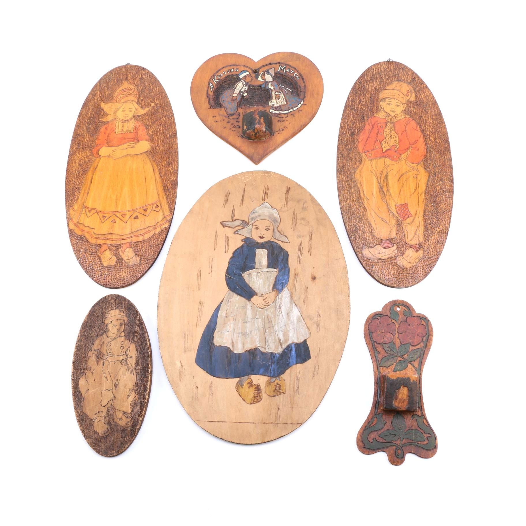 Collection of Pyrography Panels