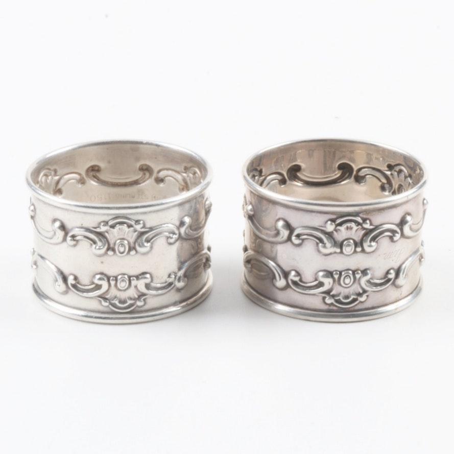 Vintage Gorham Sterling Silver Napkin Rings