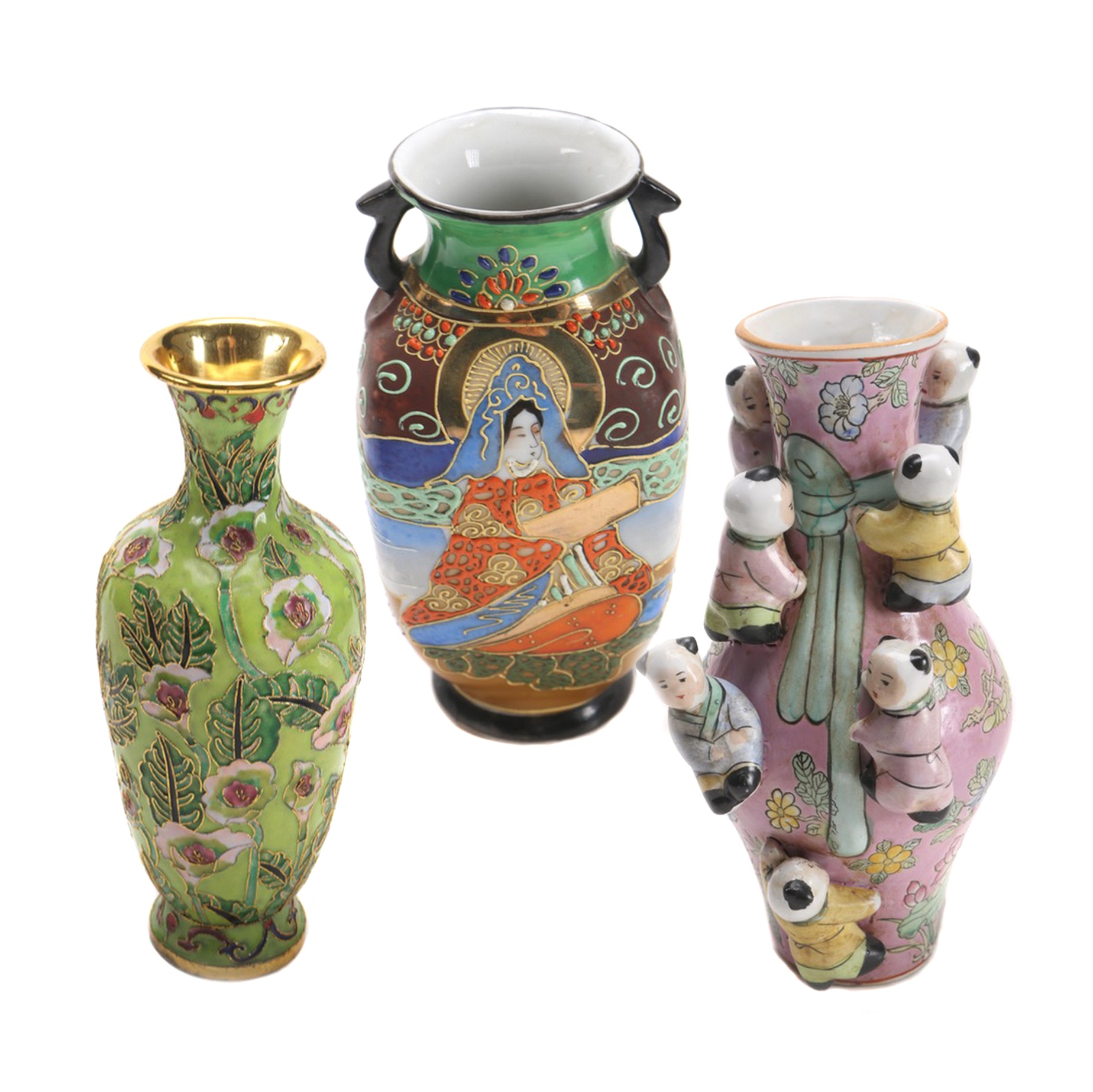 Selection of Asian Inspired Vases