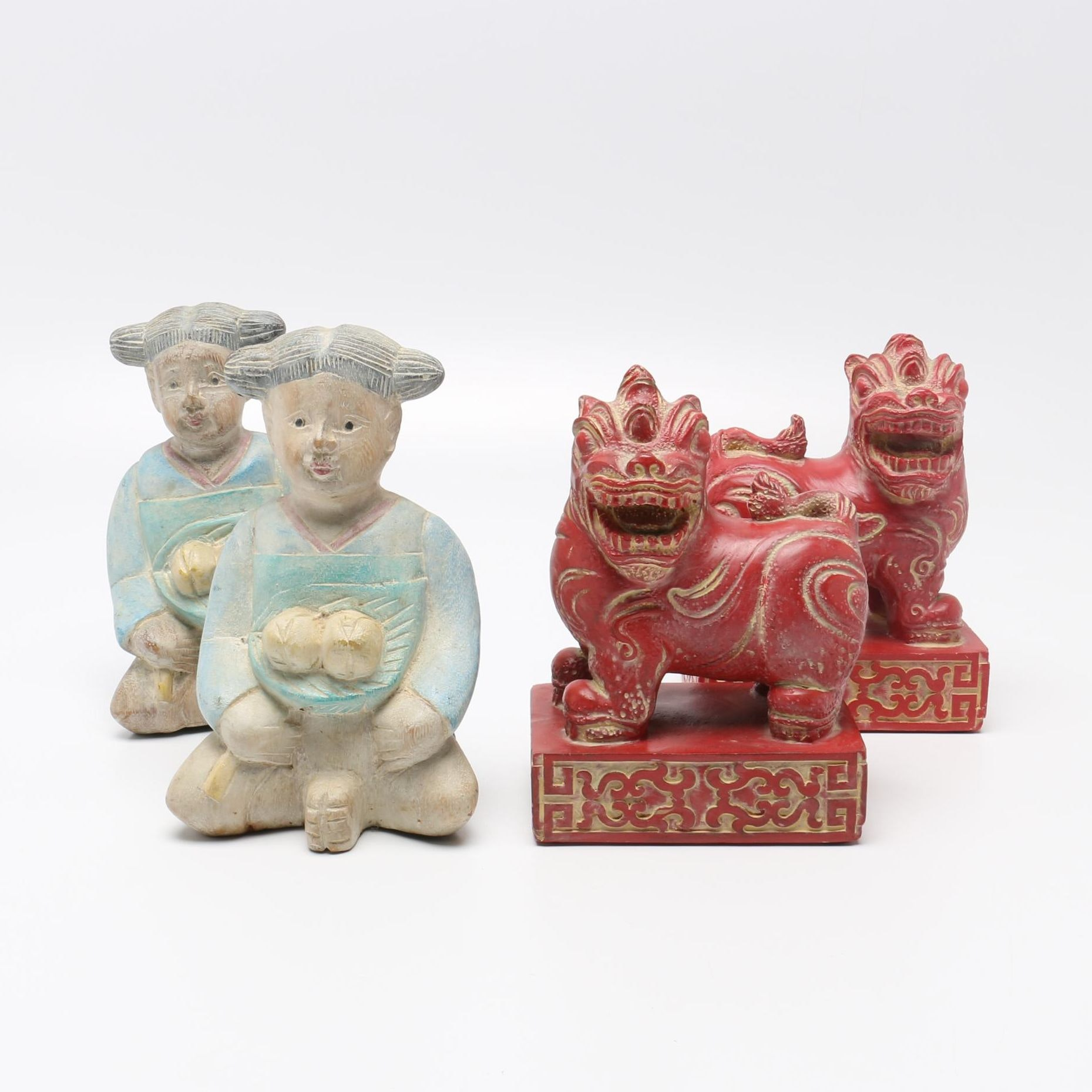 East Asian Decor Including Bookends
