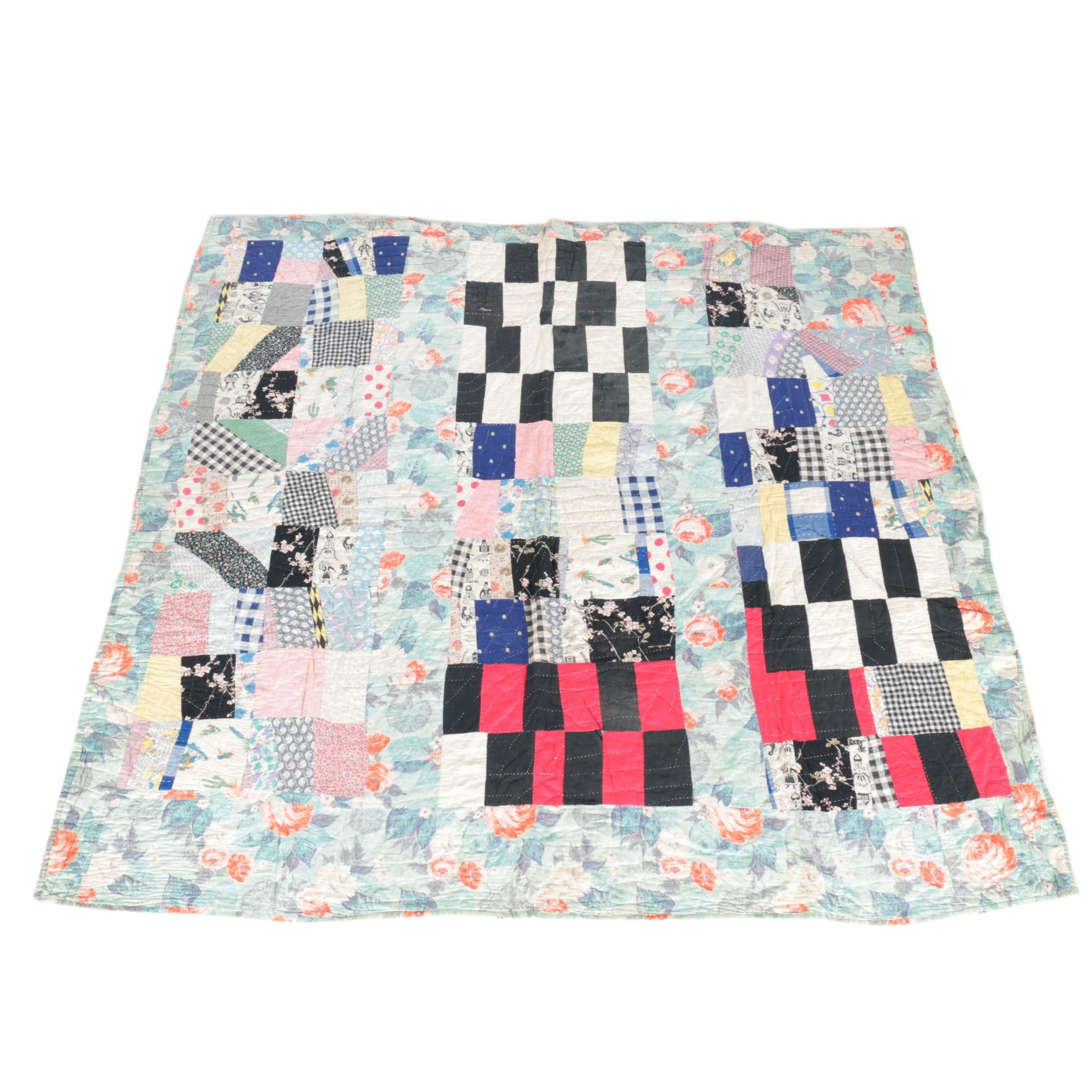 Floral Handmade Quilt