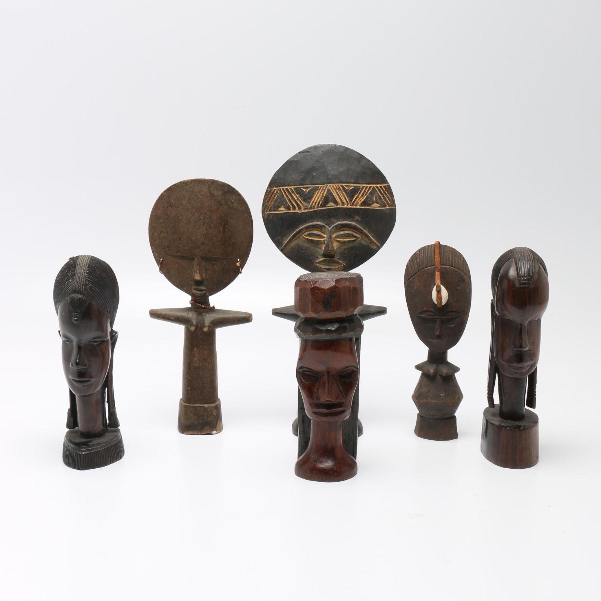 Ethnographic Carved Wood Statuettes