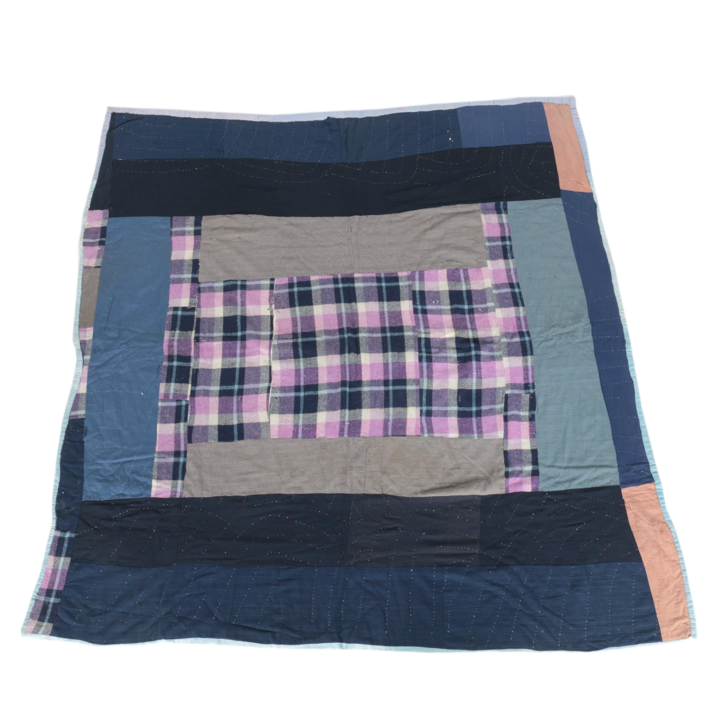 Blue and Plaid Quilt