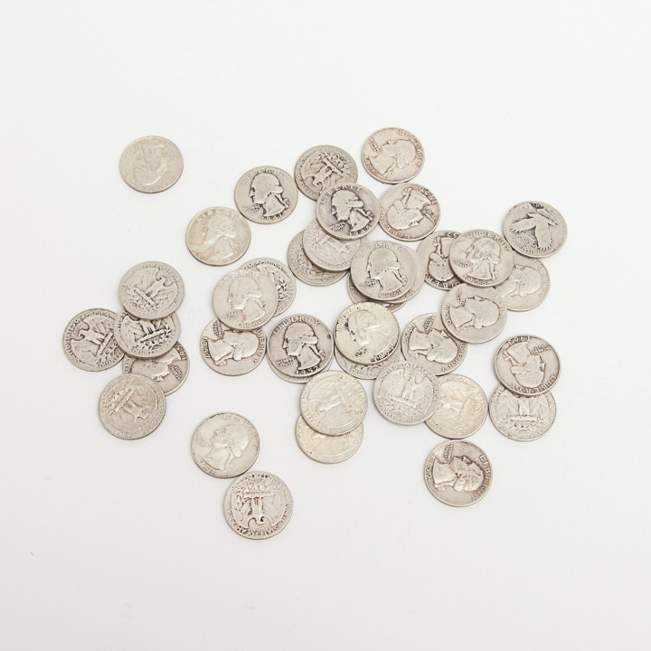 Collections of 1945-60 Washington Silver Quarters