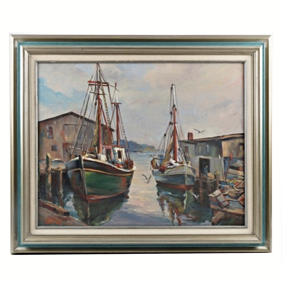 Roger Deering Original Maritime Oil Painting