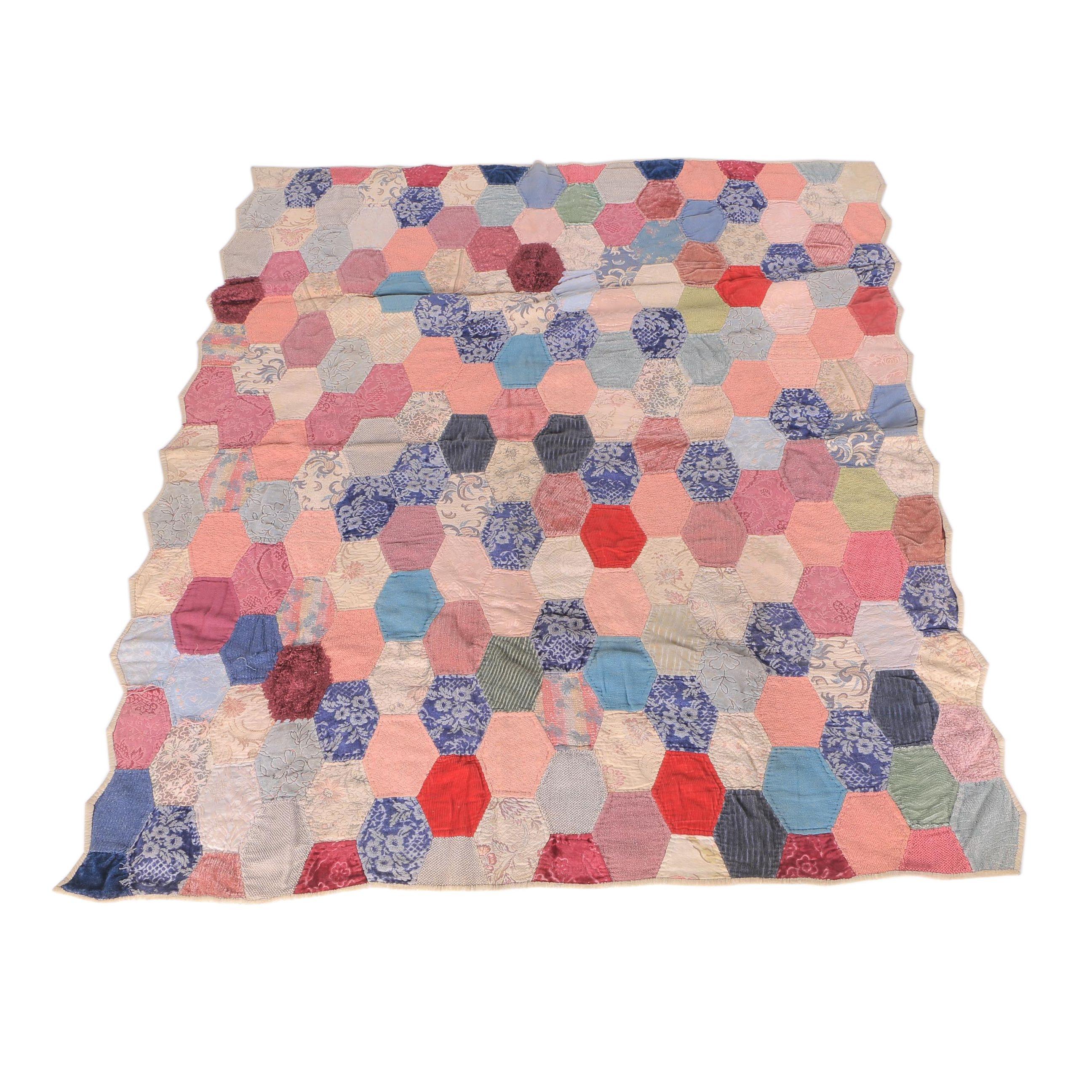 Vintage Hexagon Quilt
