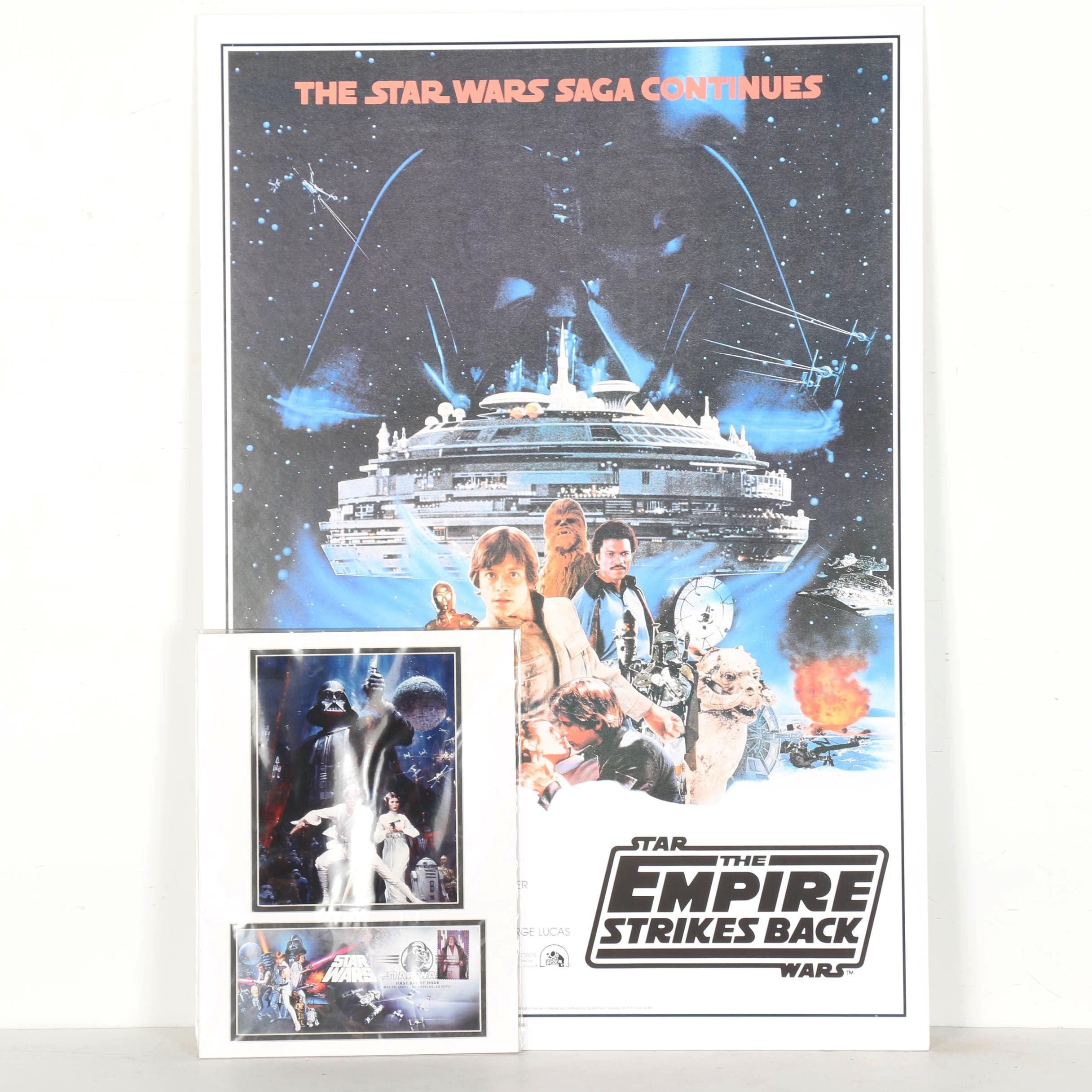 """Star Wars"" Prints and Collectible Stamp"