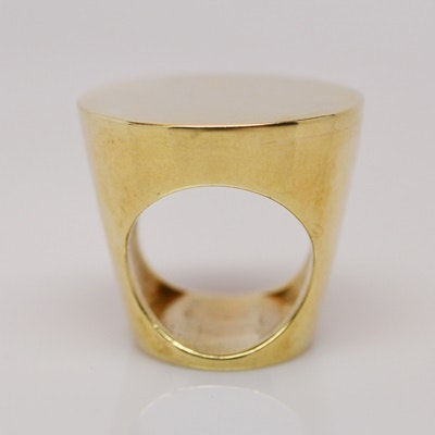 Raul Haas 14K Yellow Gold Cone Shaped Ring