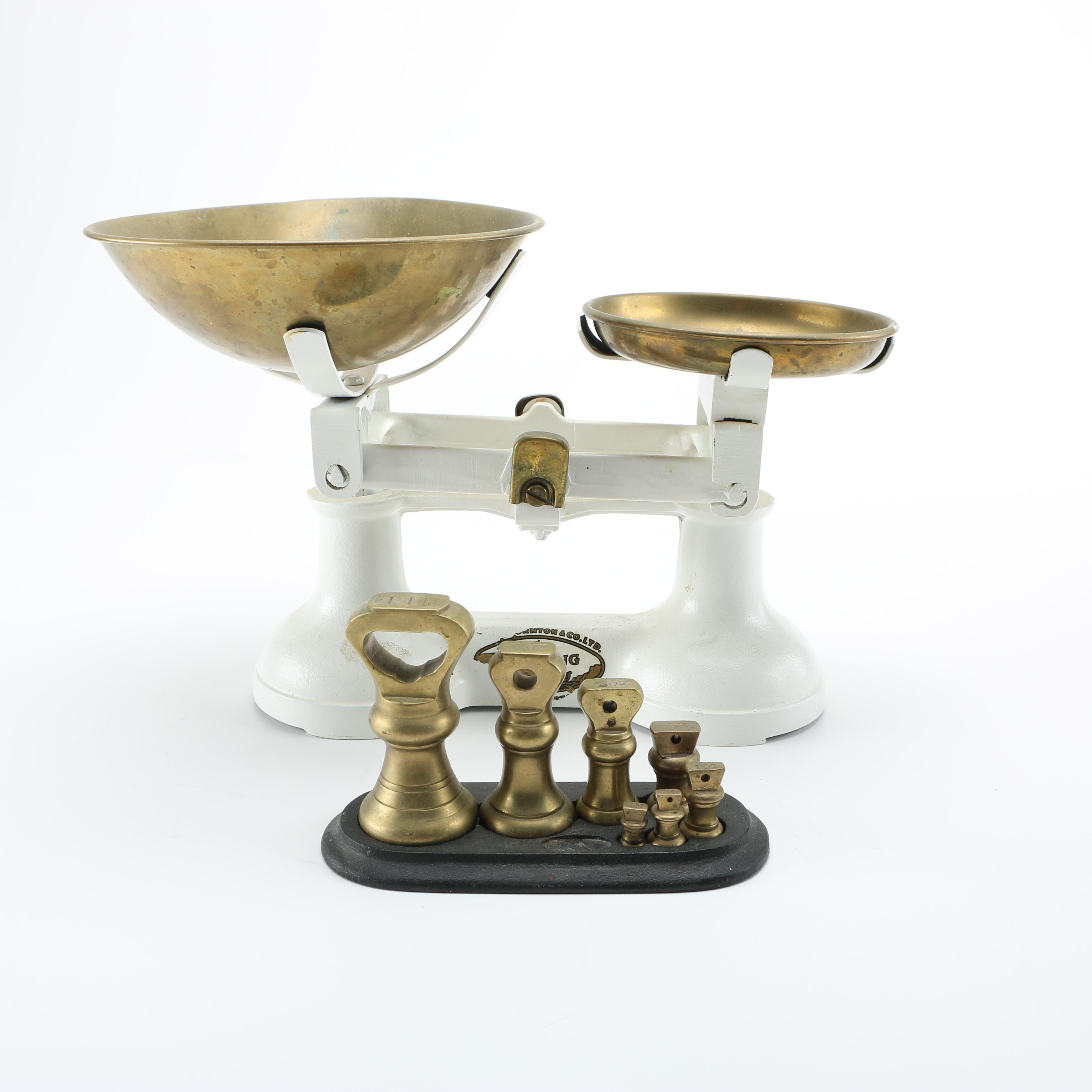 Vintage F.J. Thornton Wolverhampton Scale With Weights