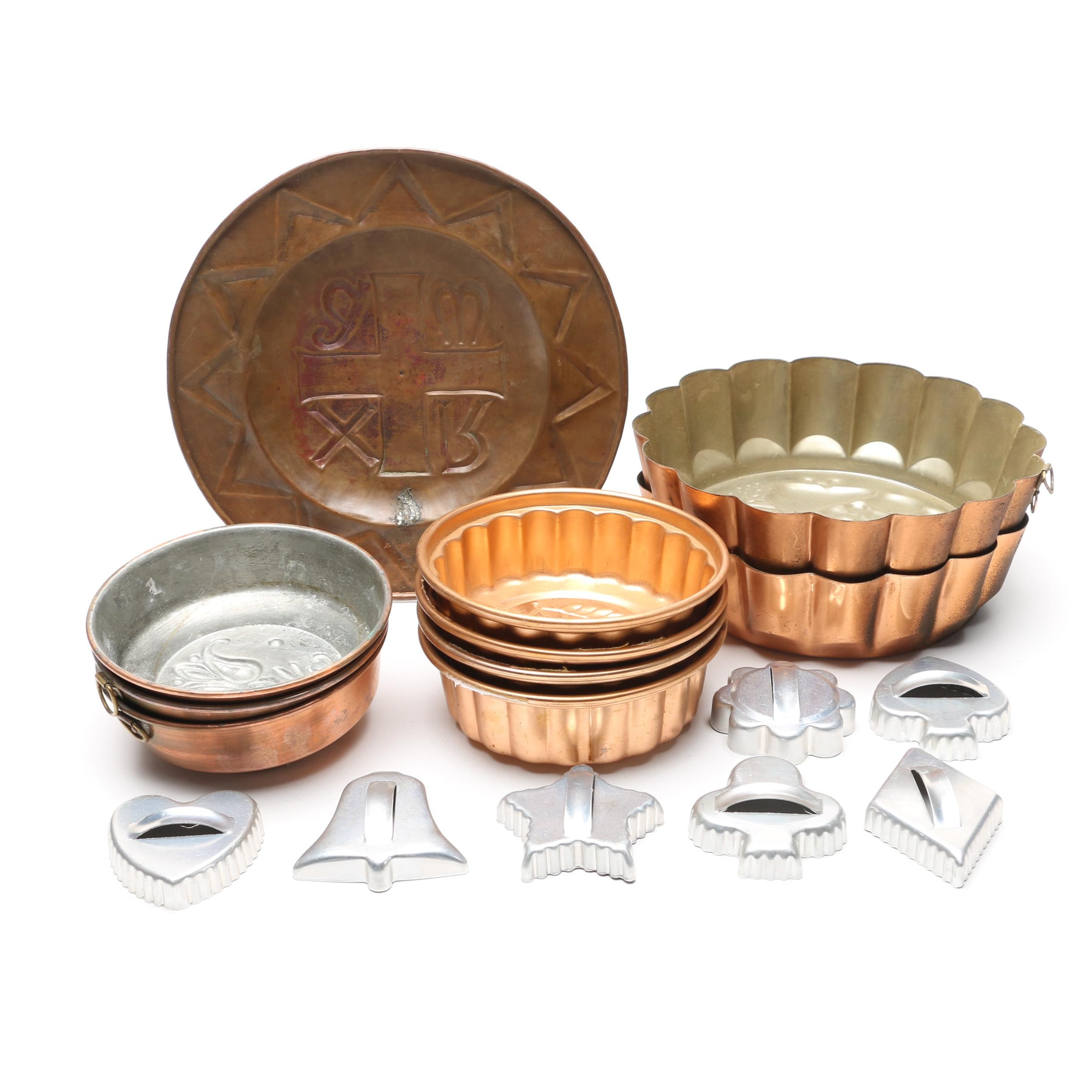 Copper Cake Pans and Molds