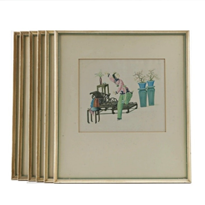 Six Framed Chinese Prints