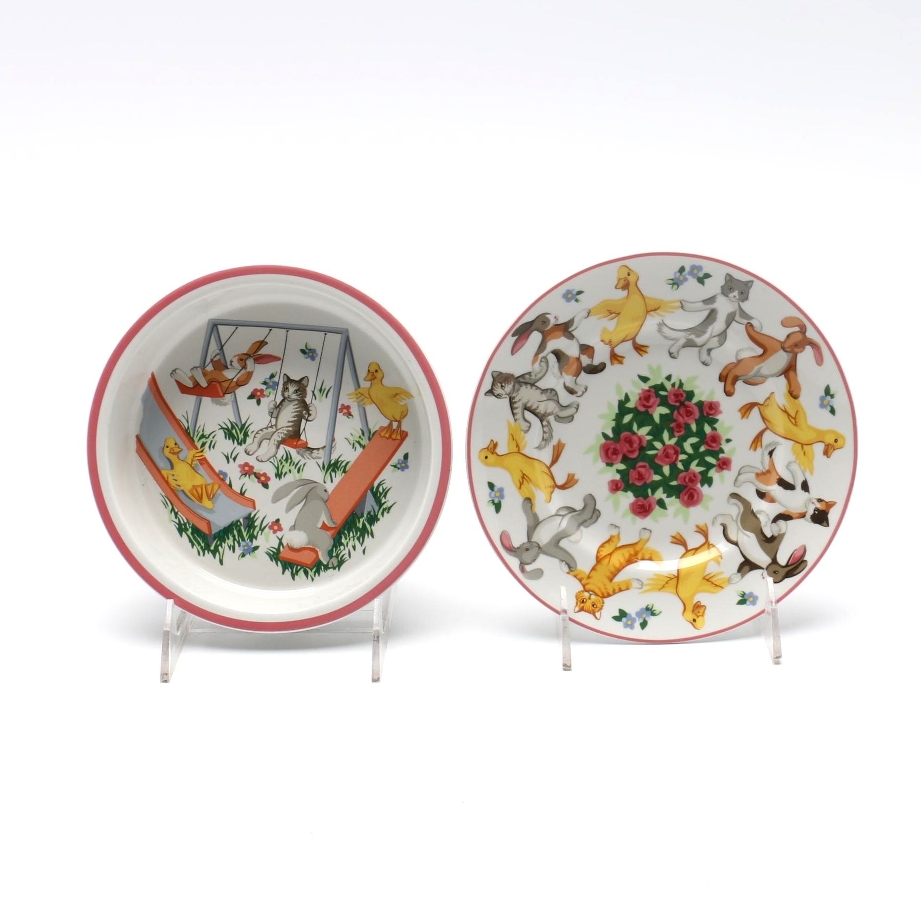 "Tiffany & Co. ""Tiffany Playground"" Children's Plate and Bowl"