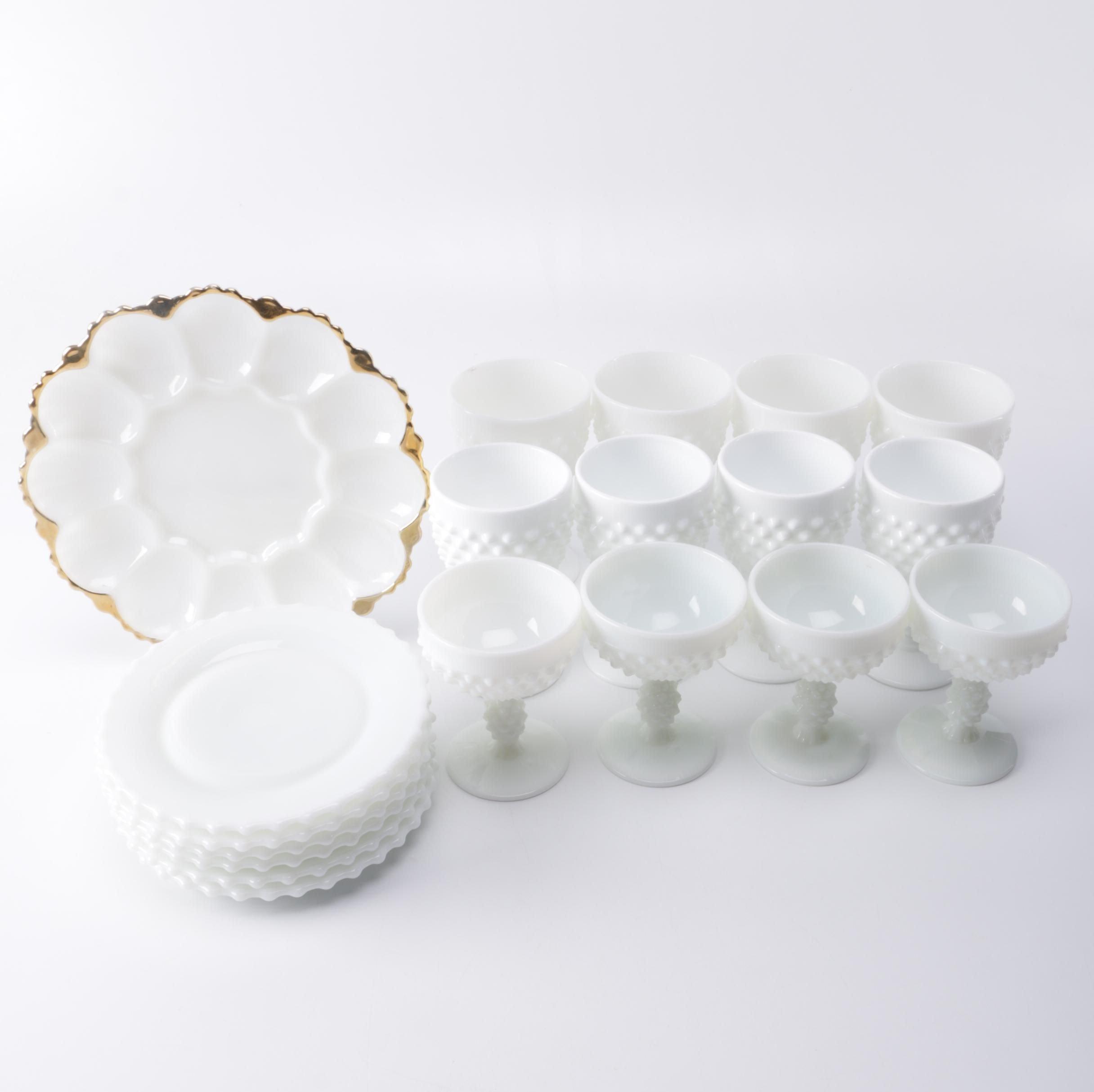 Hobnail Milk Glass Kitchenware