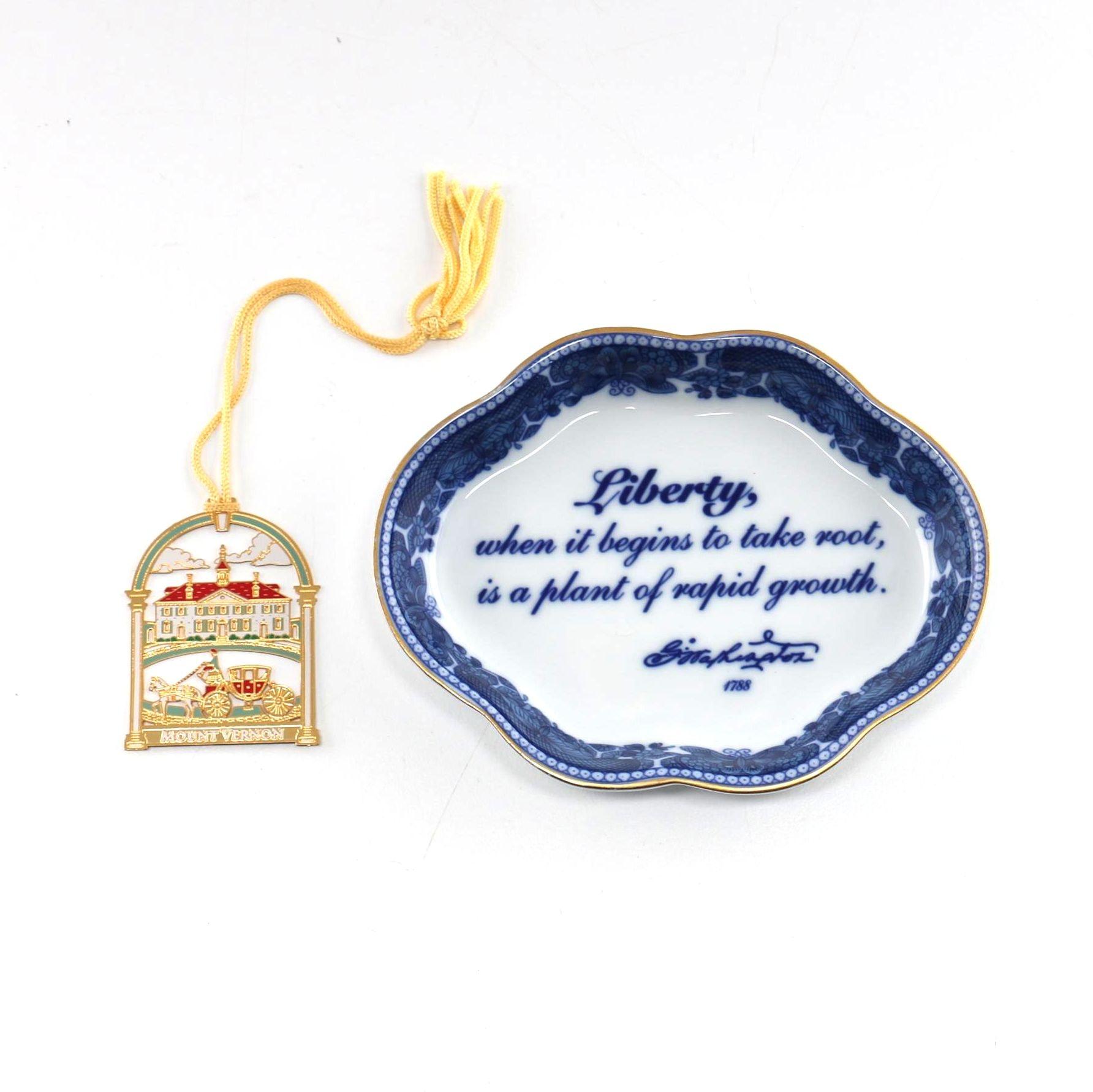 Mount Vernon Ornament and Trinket Dish