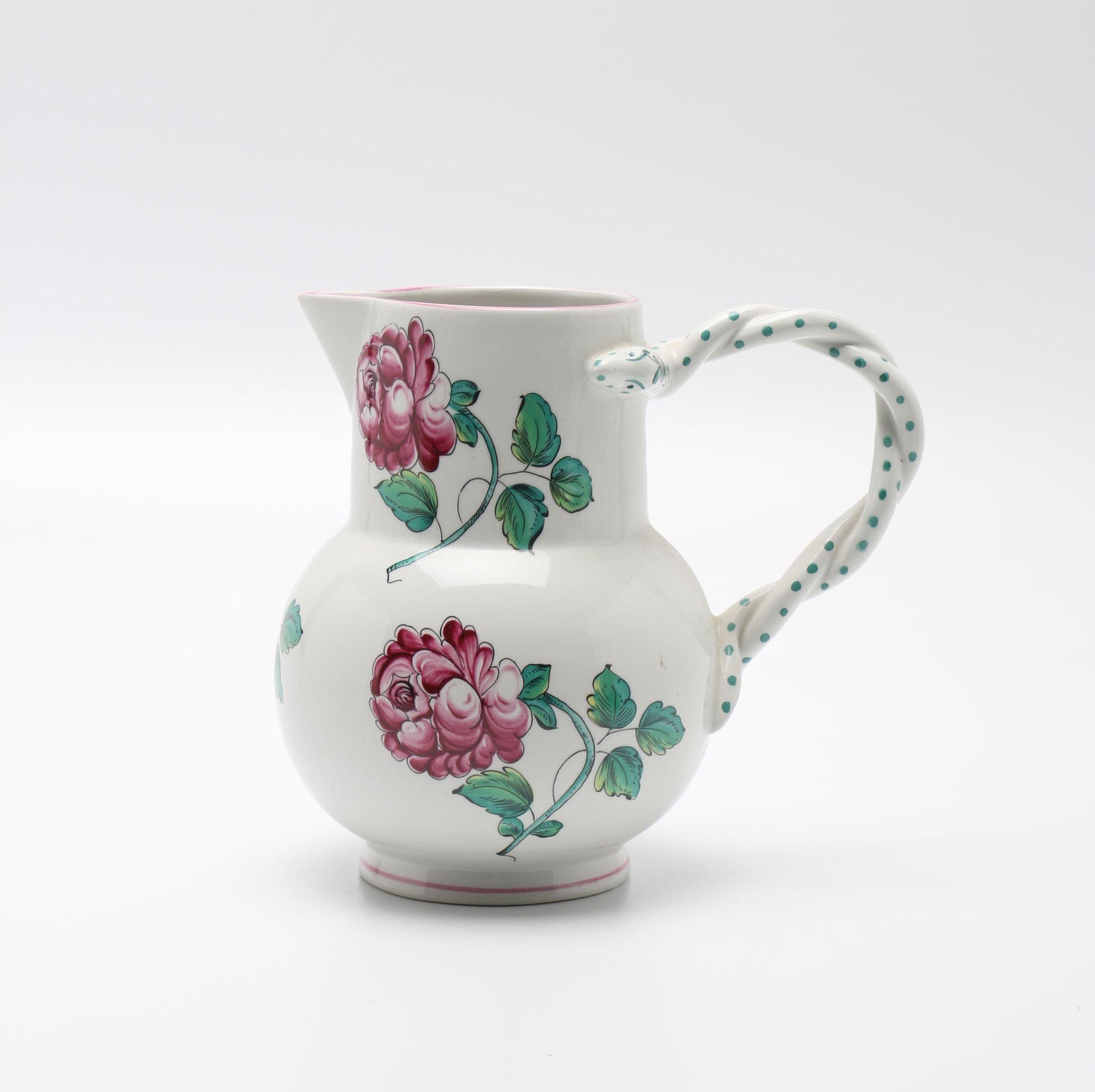 """Tiffany & Co. """"Strasbourg Flowers"""" Pitcher"""