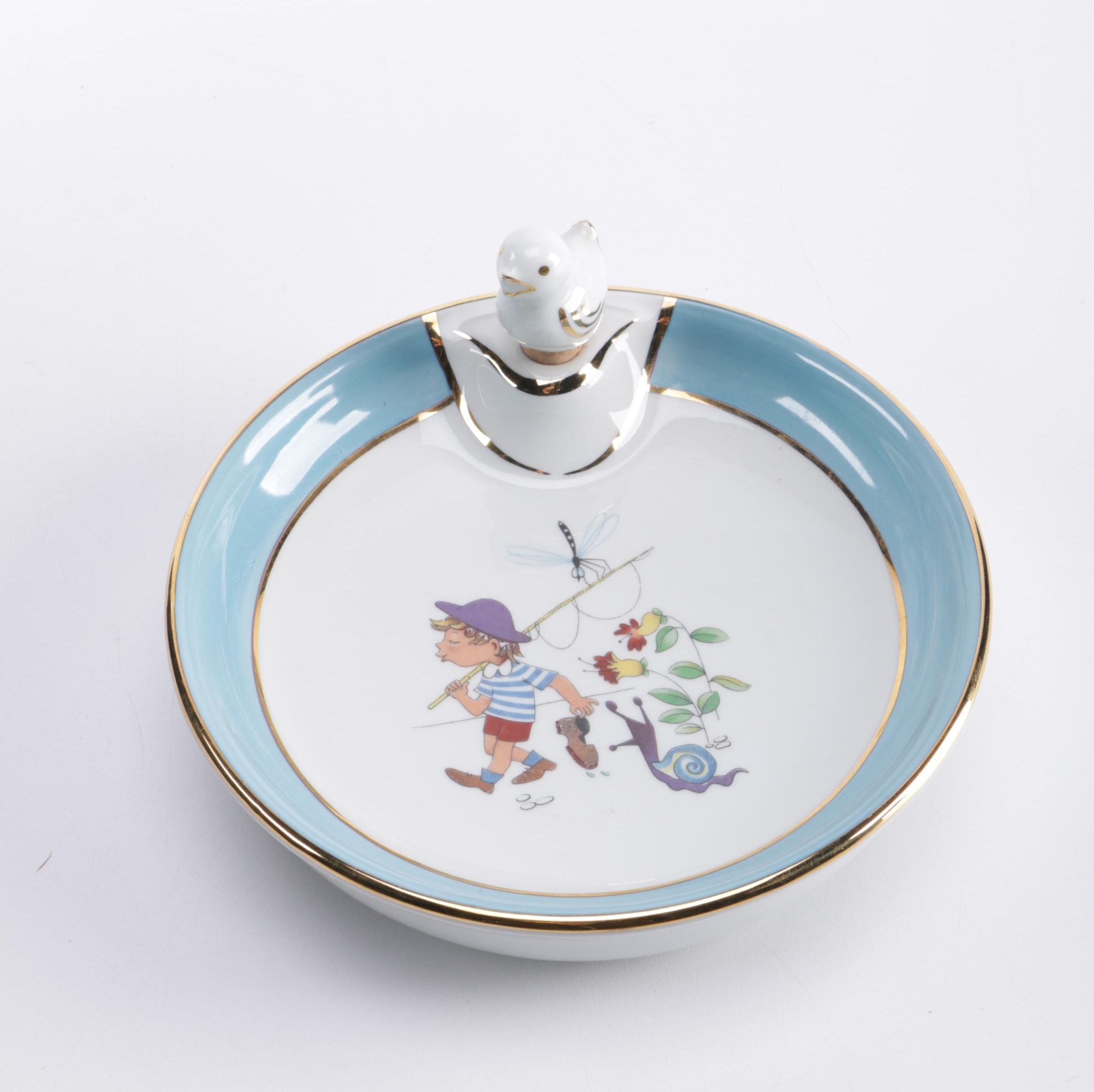 P. Pastaud Limoges Children's Plate With Hot Water Compartment