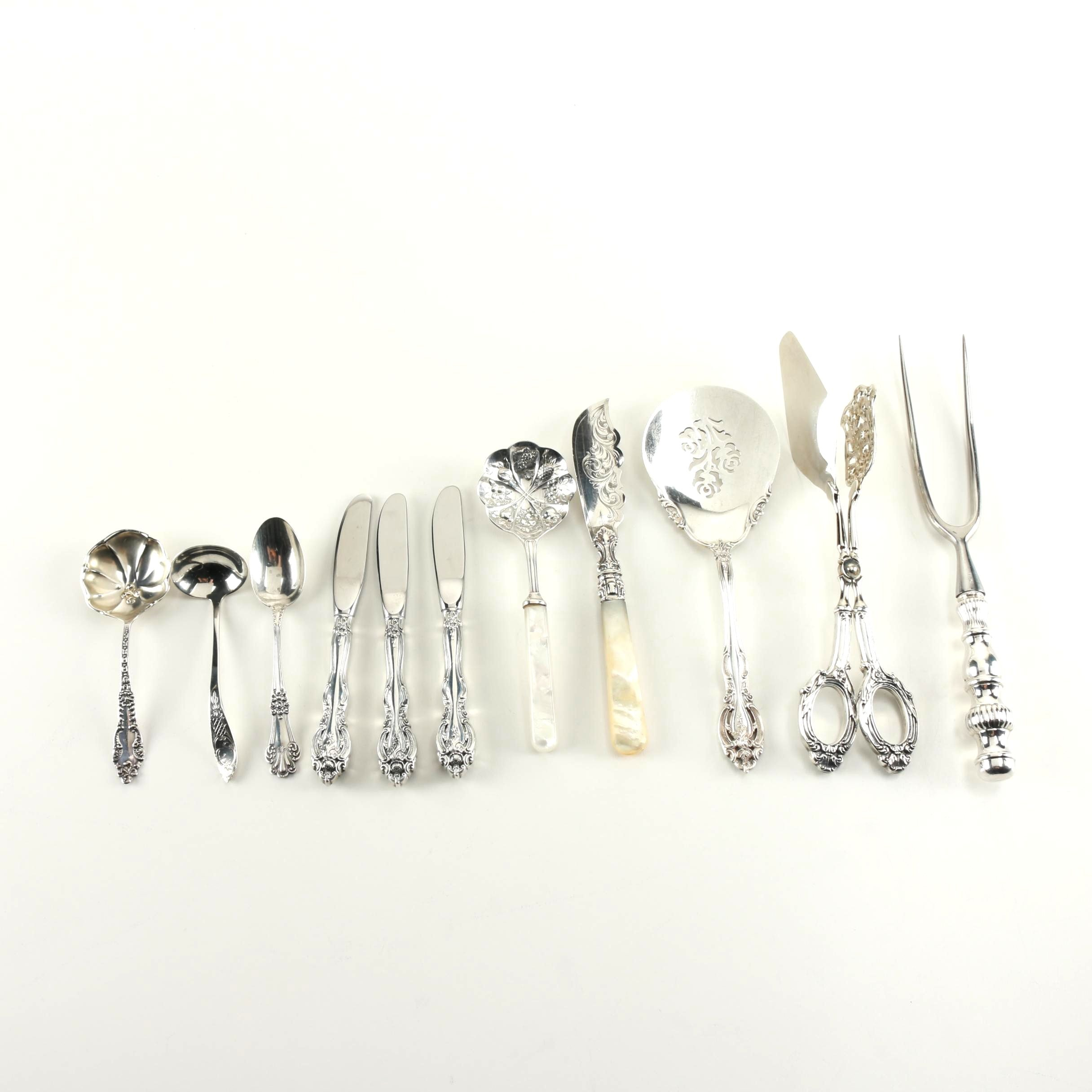 Sterling Silver Flatware Including Serving Pieces