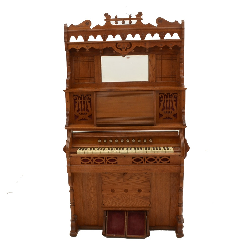 Circa 1899 Crescent Organ Co. Pump Organ