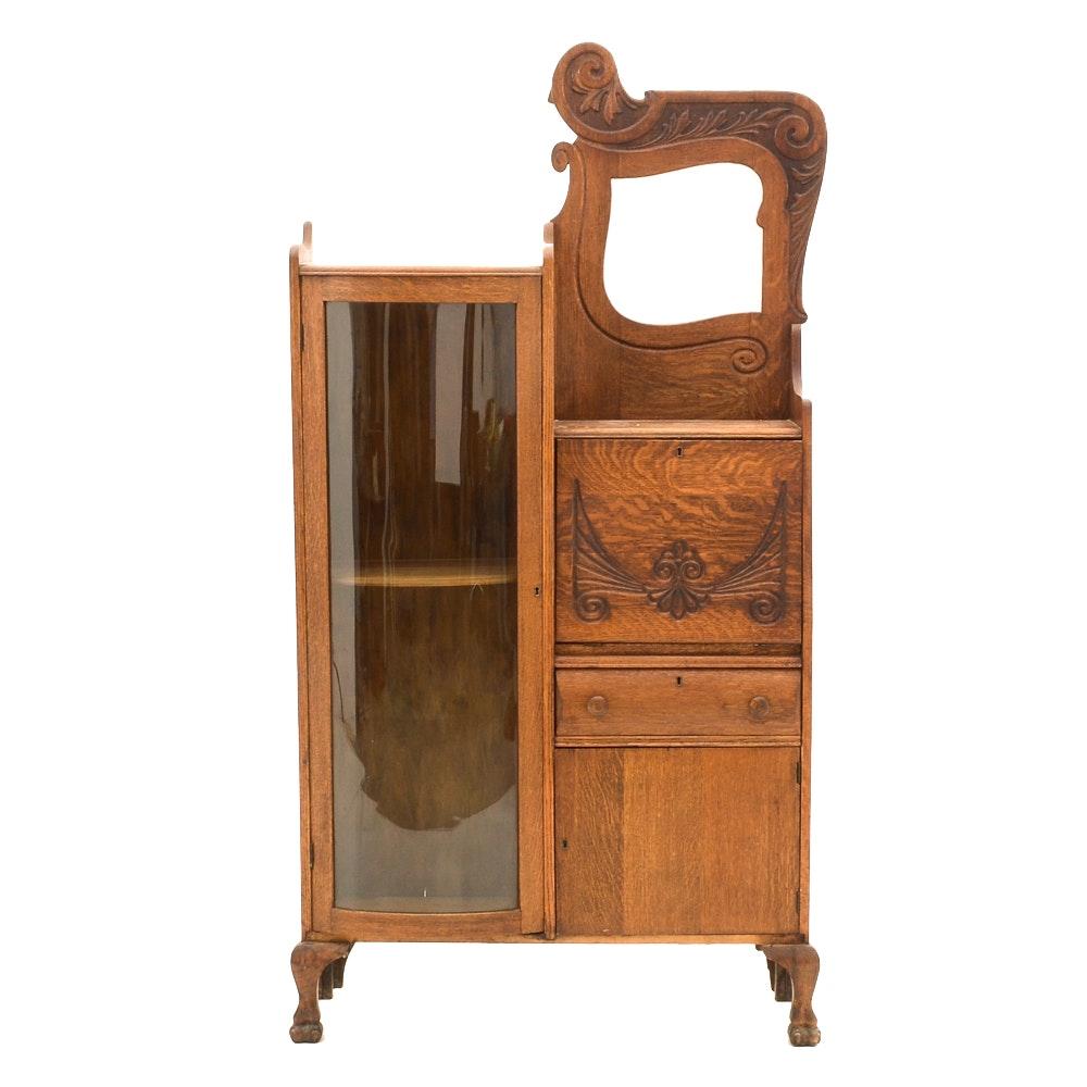 Victorian Oak Side-by-Side Secretary Desk