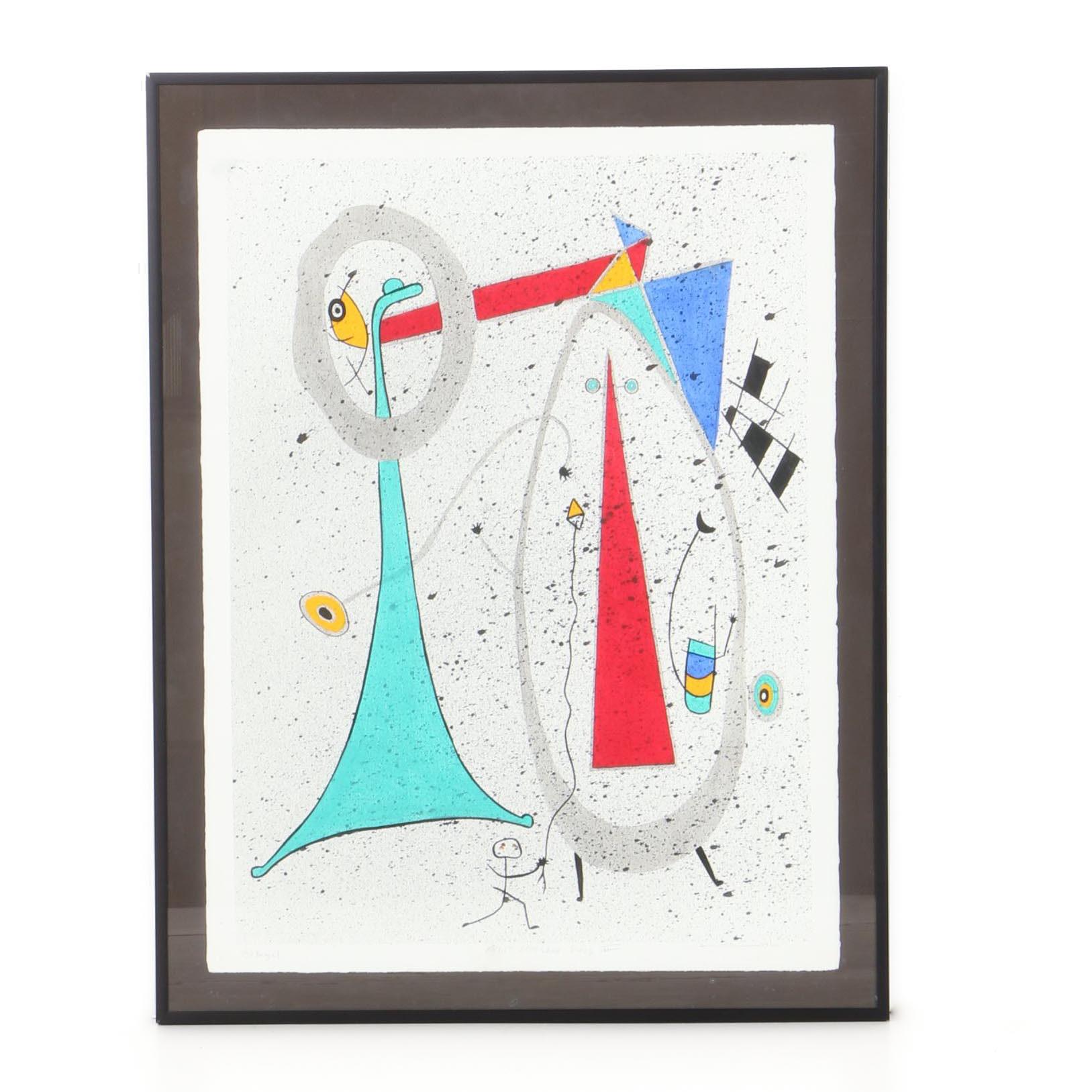 "Michael Bandel Lithograph ""Artist Sketchbook Series II"""