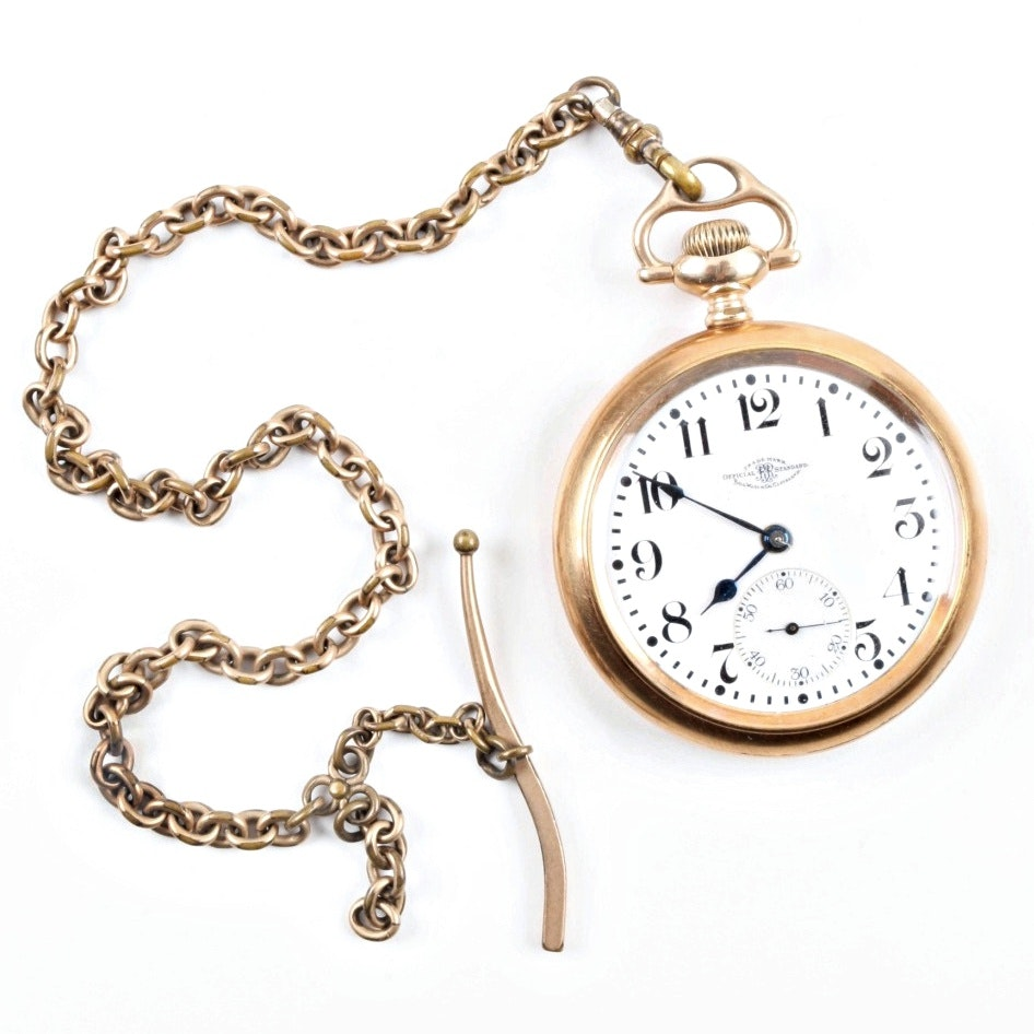 Ball Watch Company Railroad Pocket Watch in 14K Gold Filled Case